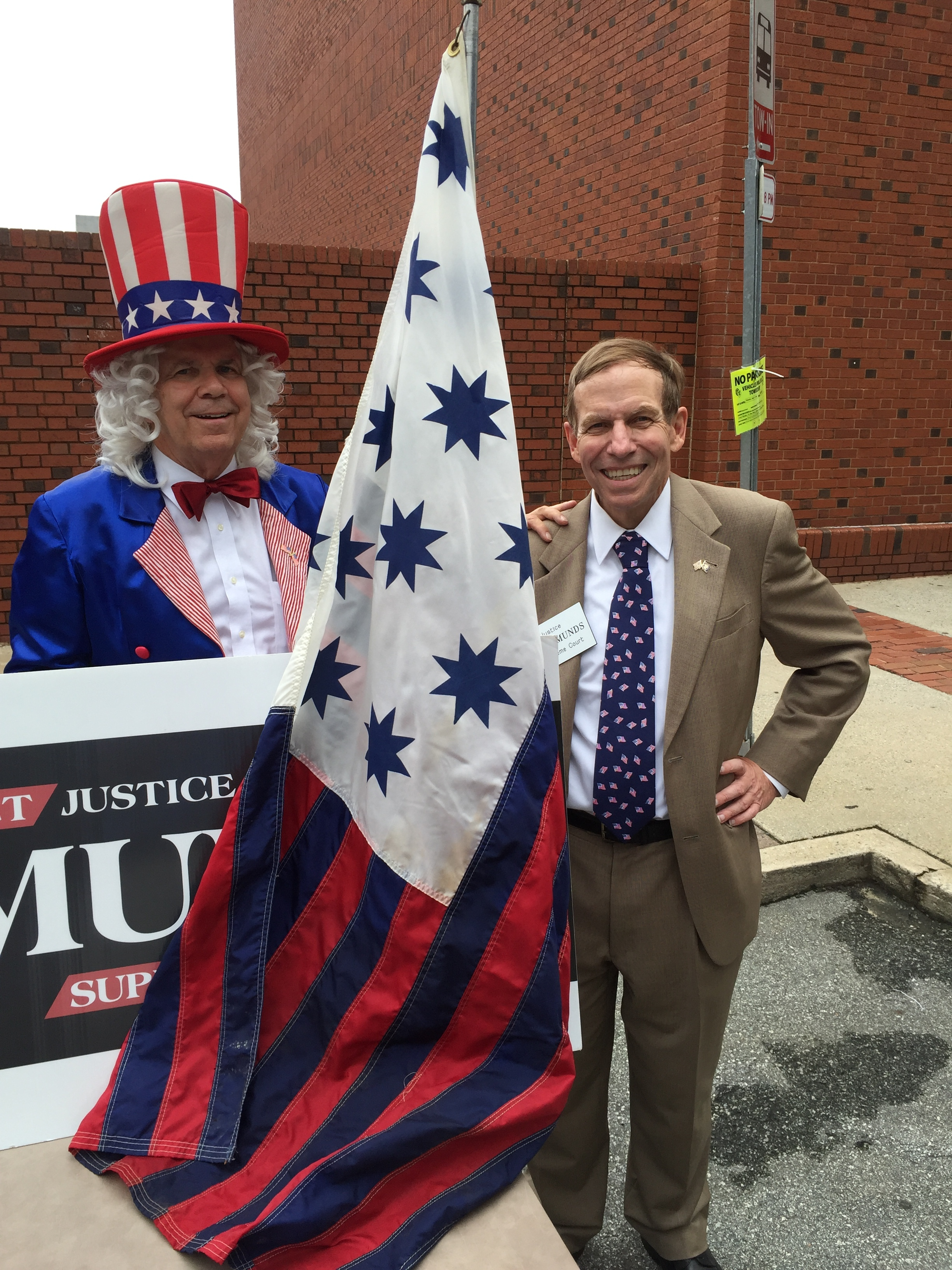 At Greensboro's Fun Fourth with guest of honor, Uncle Sam.