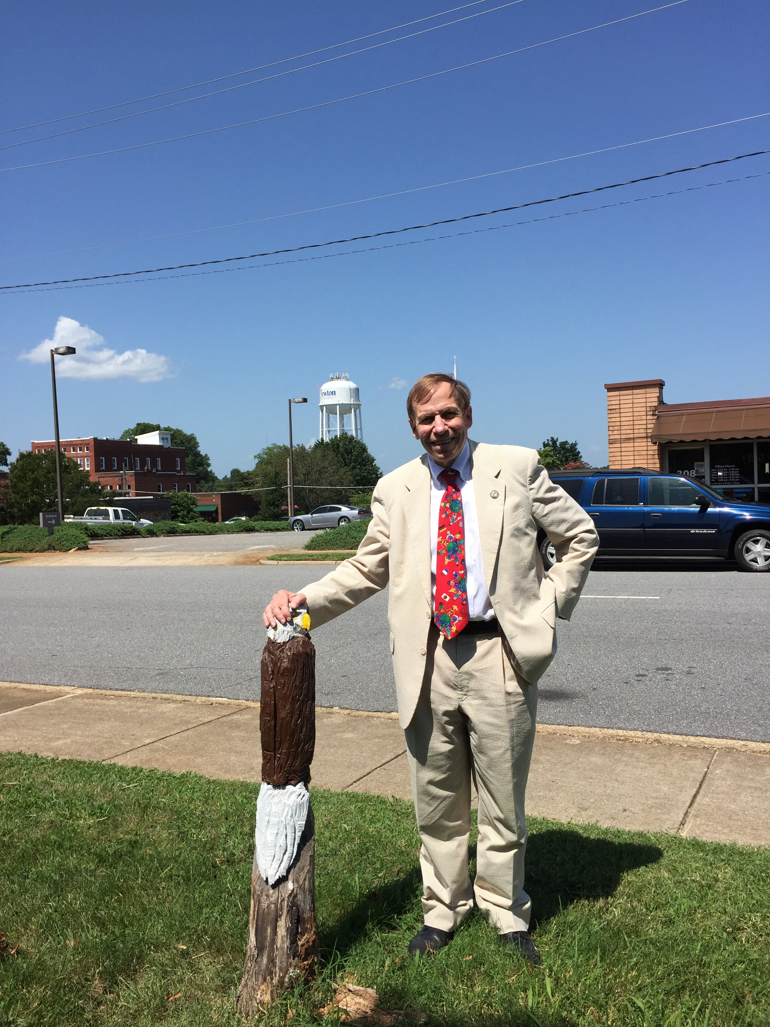 Visiting the office of Newton Observer News Enterprise, July 14, 2016.