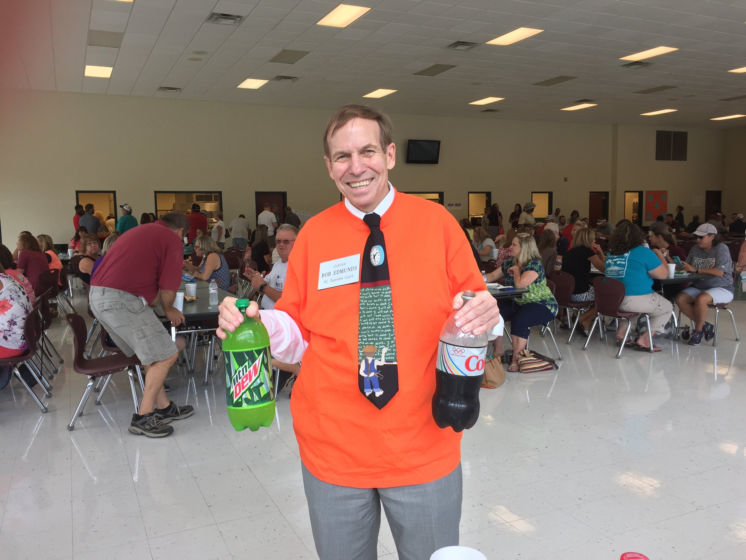 Volunteering to serve at the Johnston County Teacher Appreciation Day lunch, August 24, 2016.
