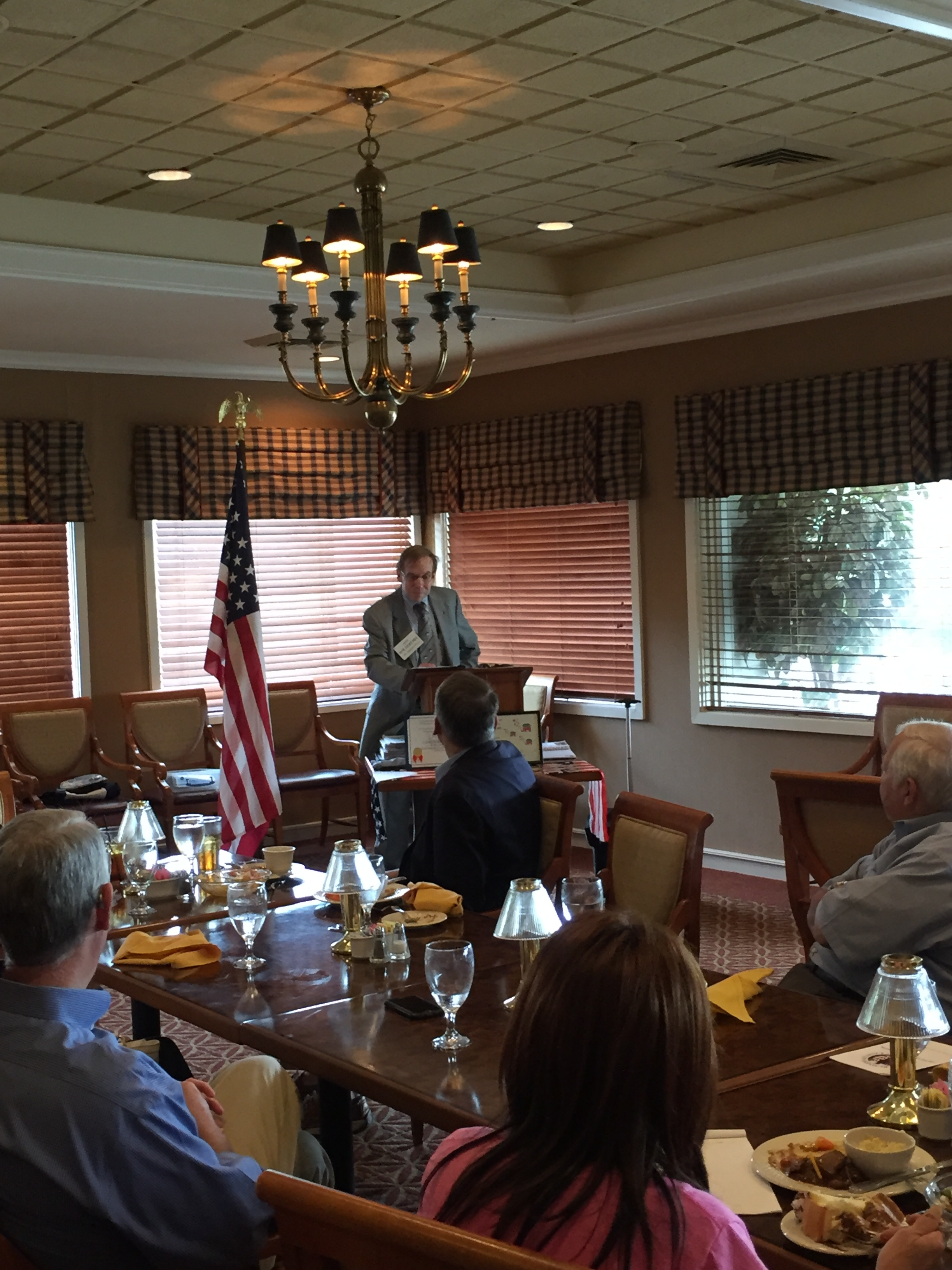Speaking to voters in Newton, August 16, 2016.