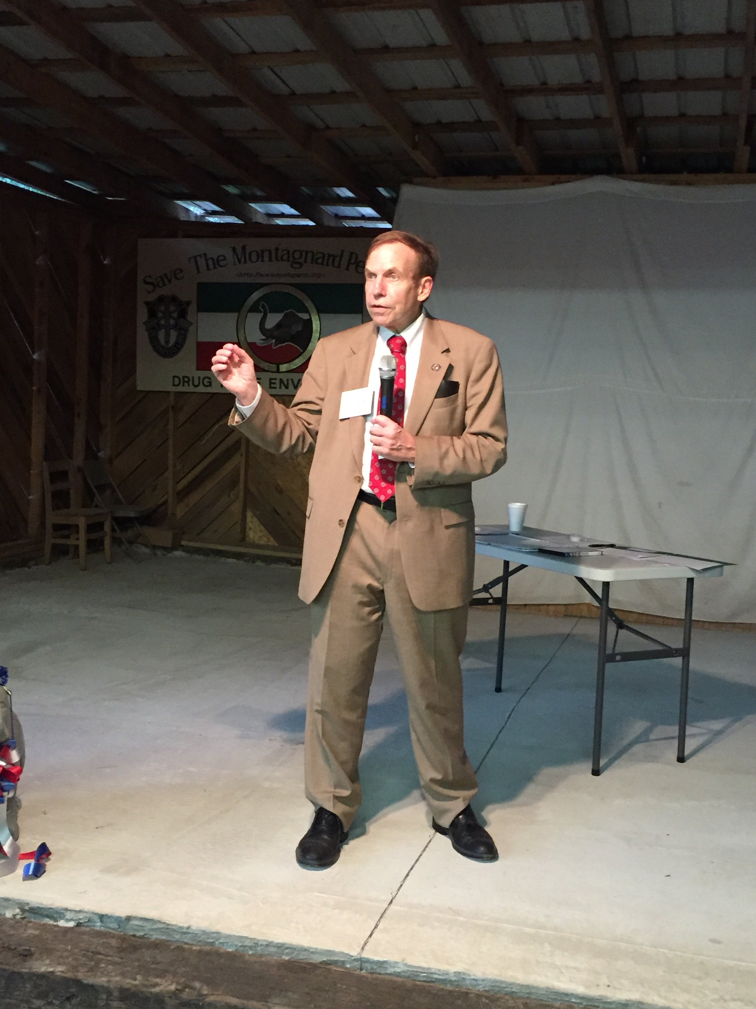 Speaking to voters in Randolph County, August 27, 2016.