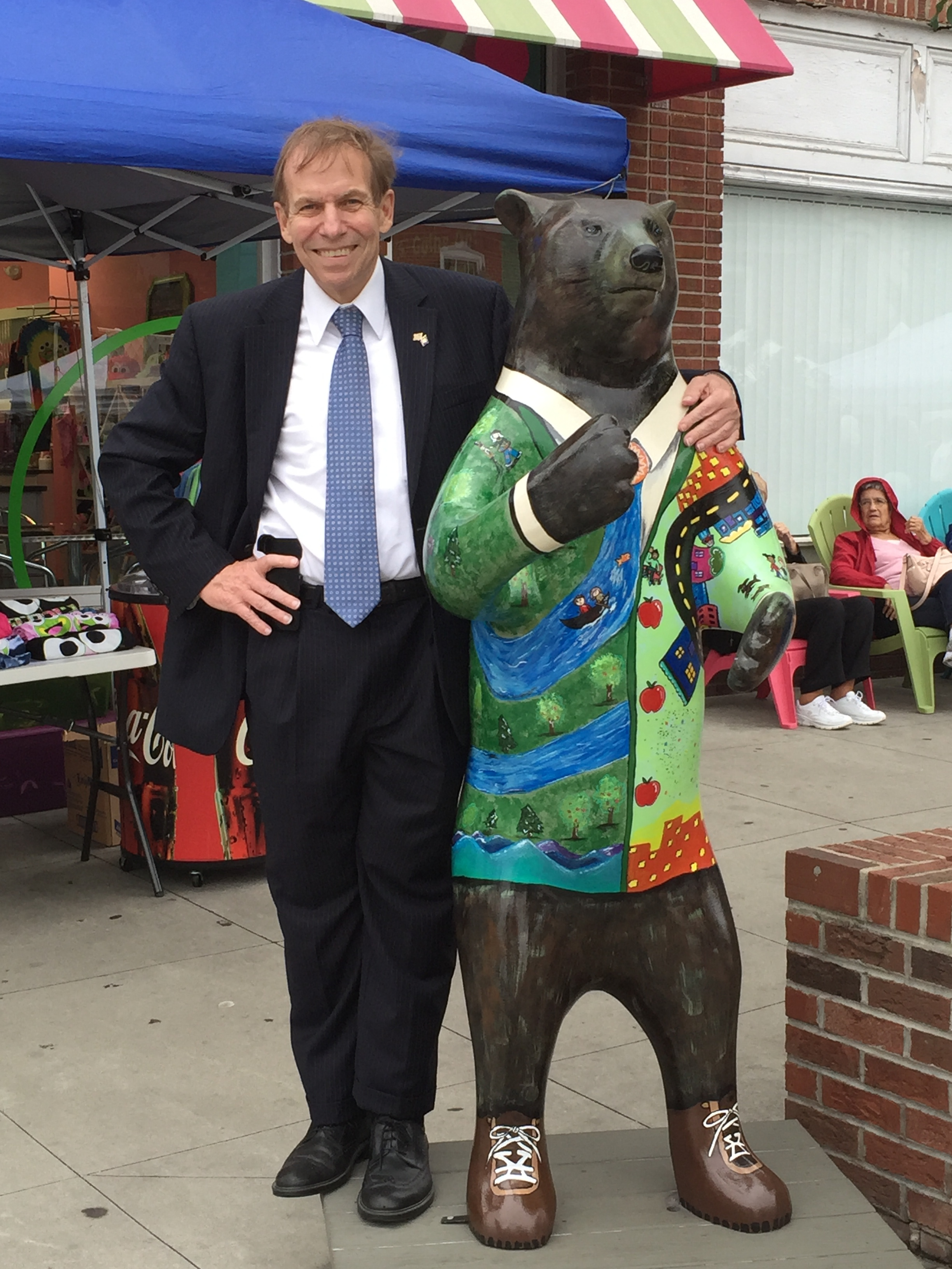With an old friend at Apple Fest in Hendersonville, September 2, 2016.