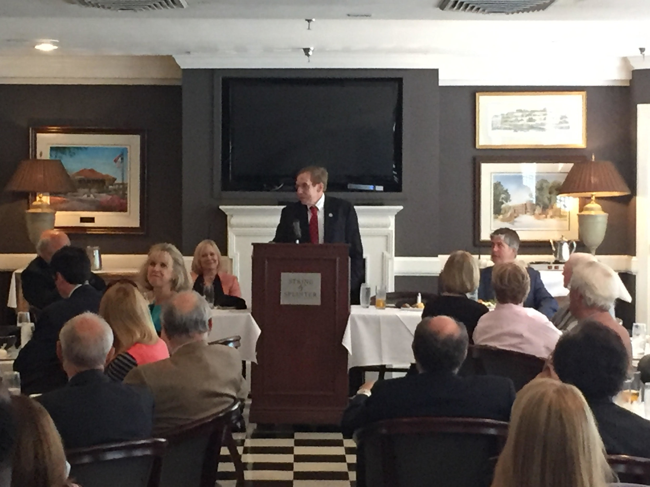 Speaking to the High Point Bar Association, September 7, 2016.