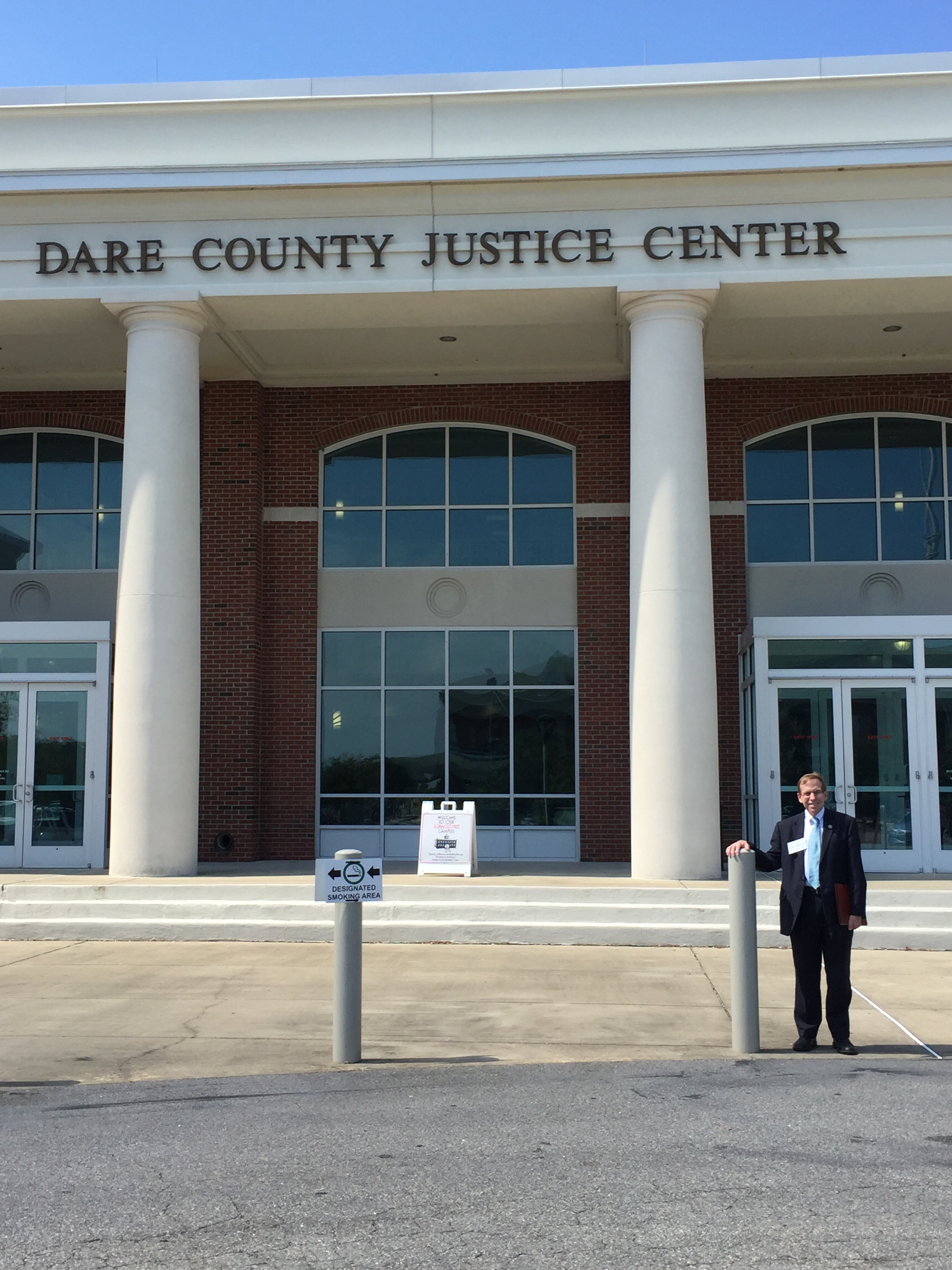 Working the courthouse in Dare County, September 15, 2016.