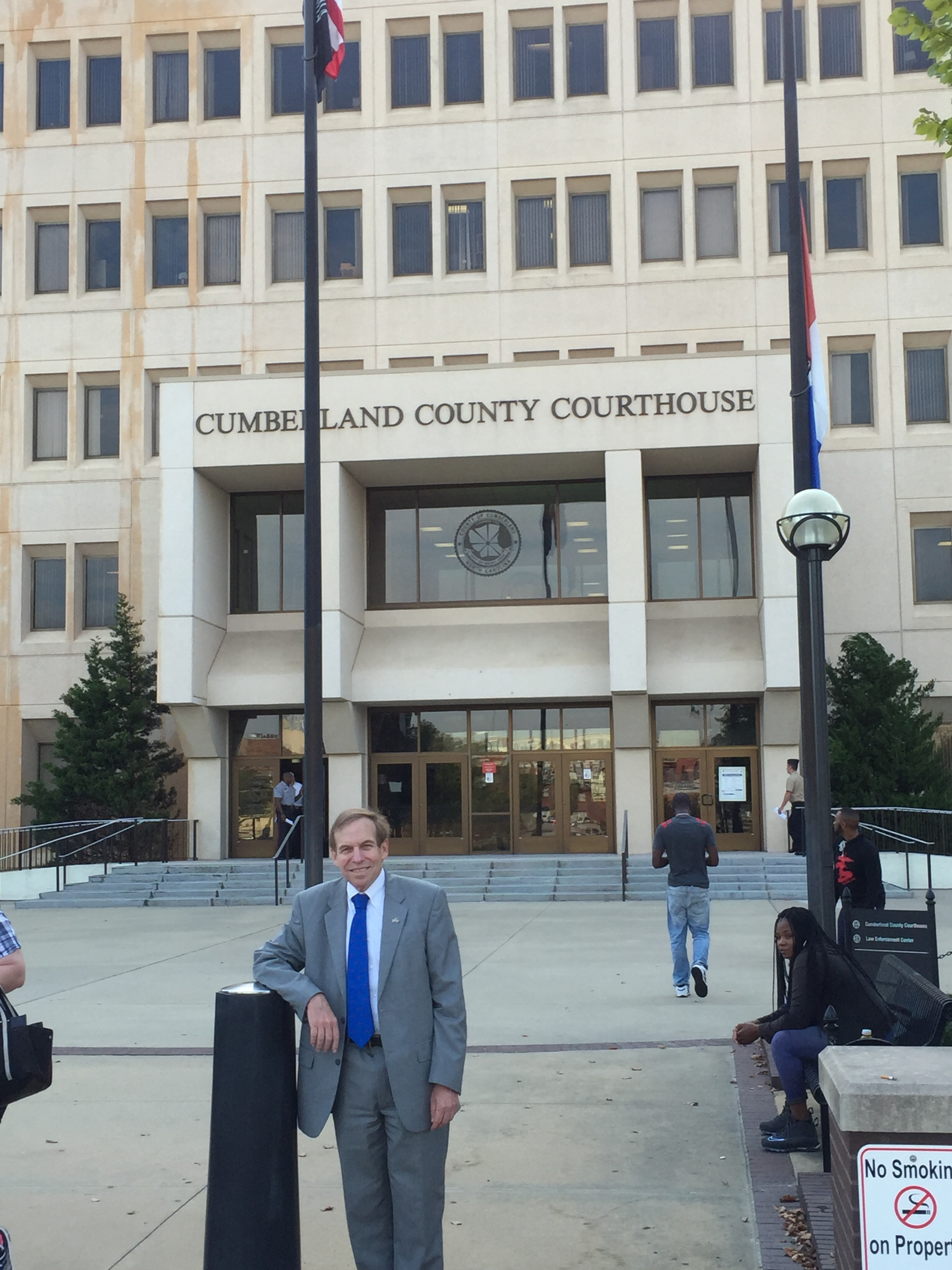 At the Cumberland County courthouse, October 3, 2016.