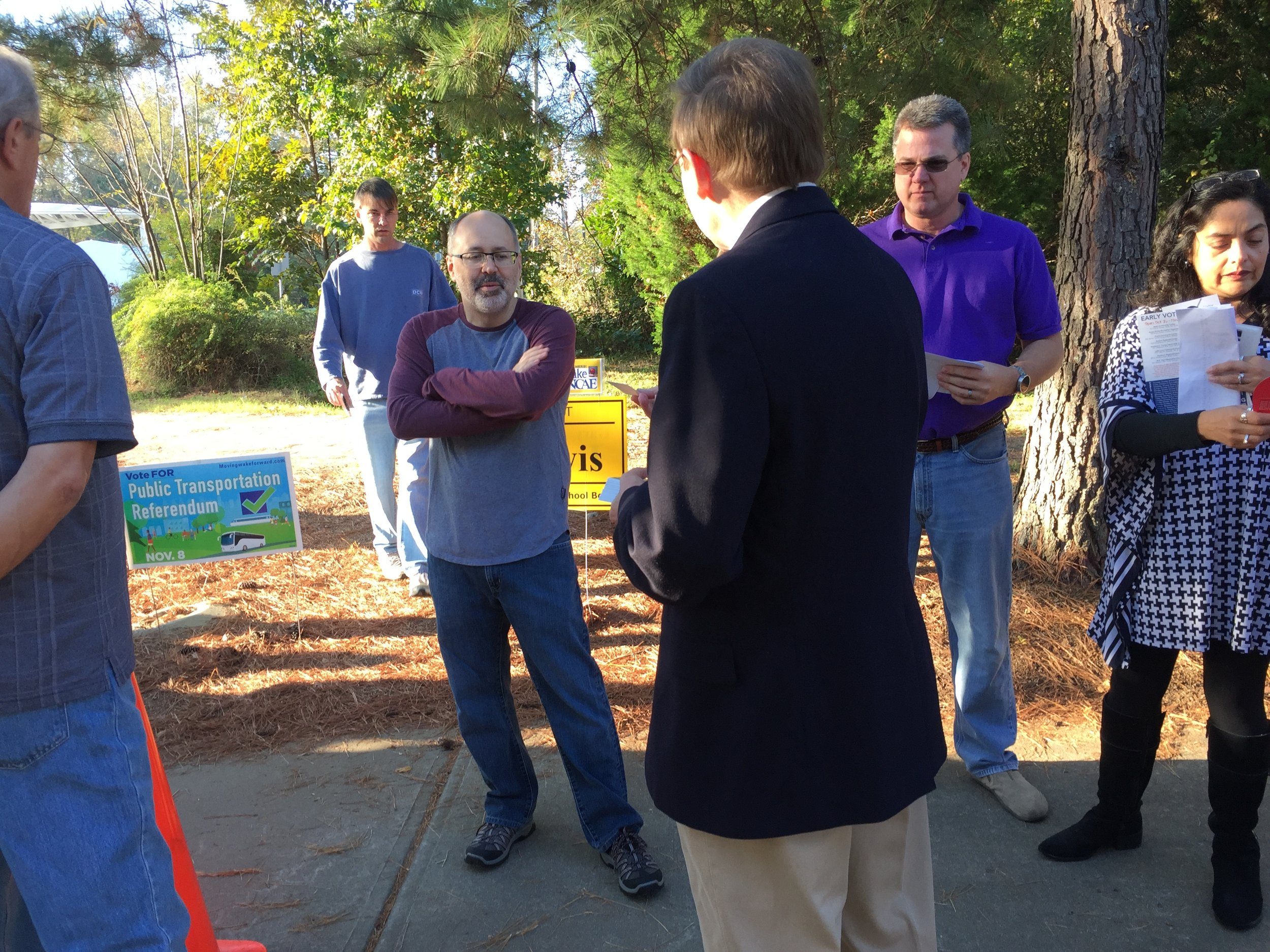 Working early voting polls in Raleigh, October 29, 2016.