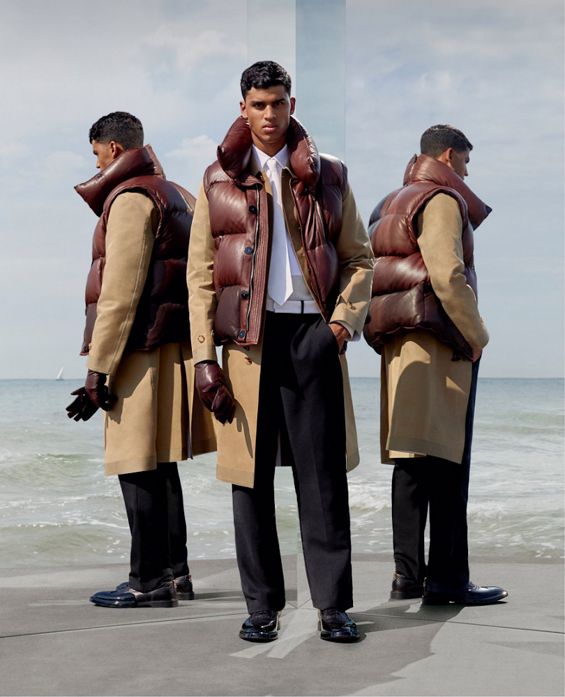 Keone Pillay shot by Jonathan Baron for Burberry AW19