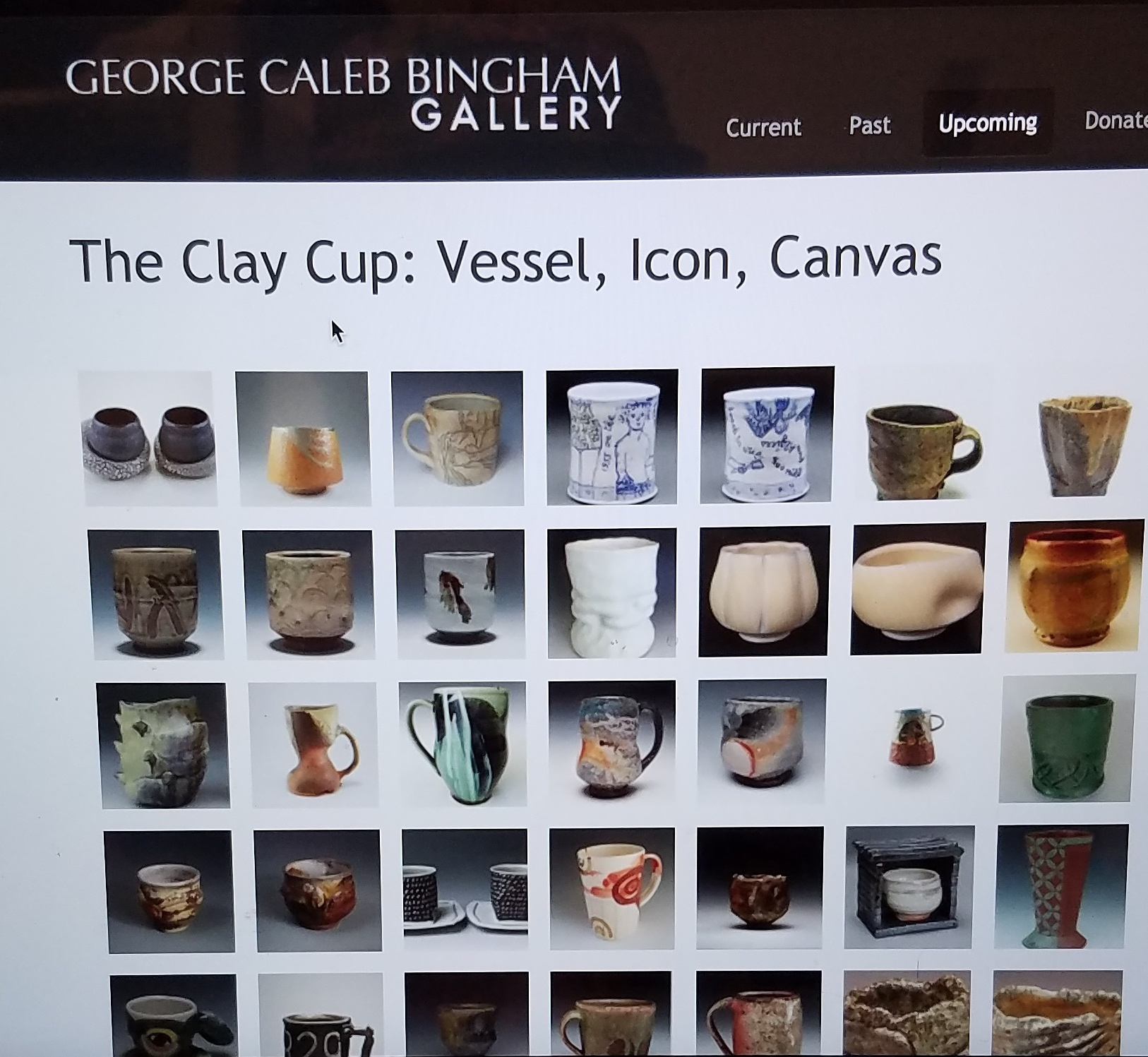 The Clay Cup: Vessel, Icon, Canvas at George Caleb Bingham Gallery October 24 - November 17