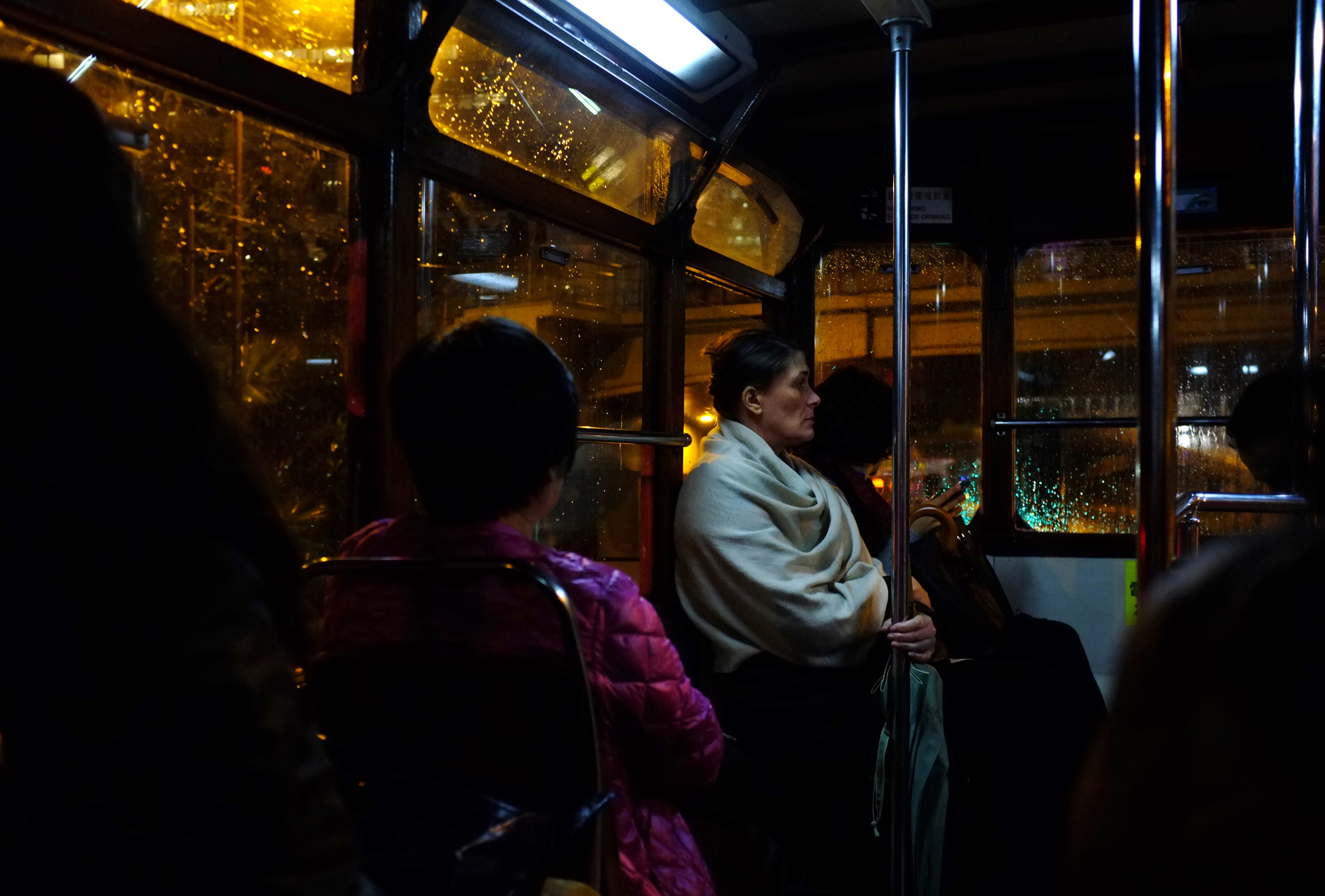 On the trolley, Central
