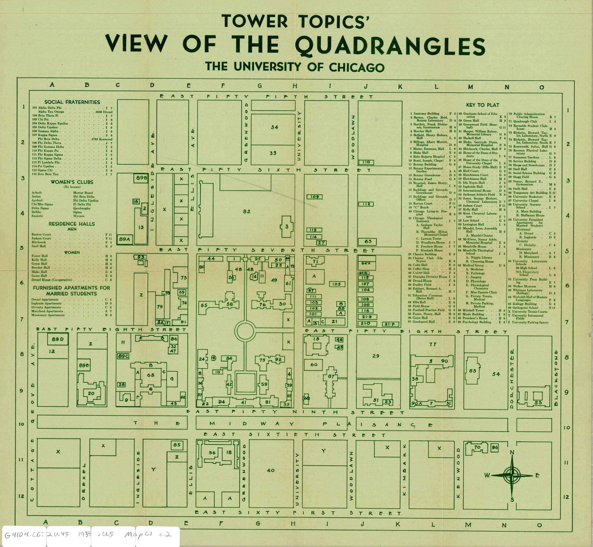 Campus Map, 1938