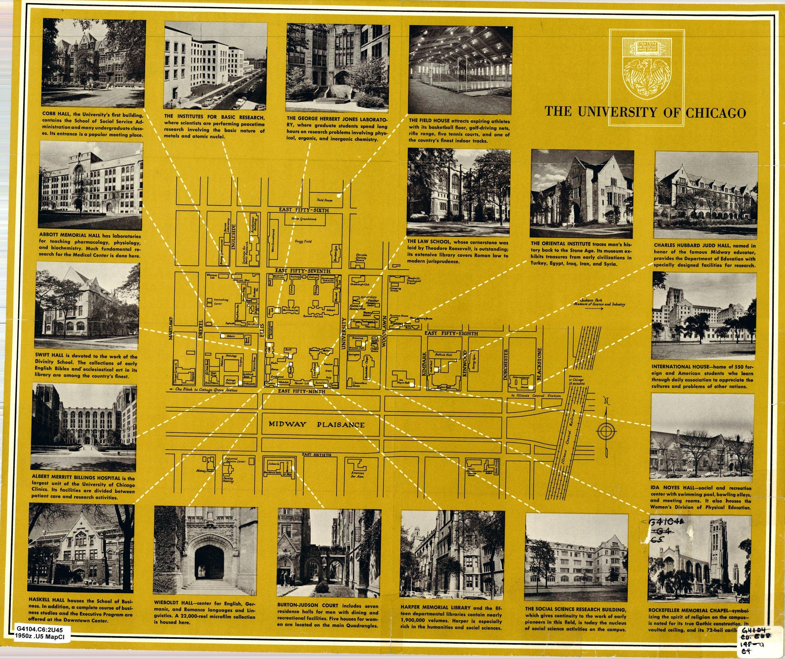 Campus Map, 1950