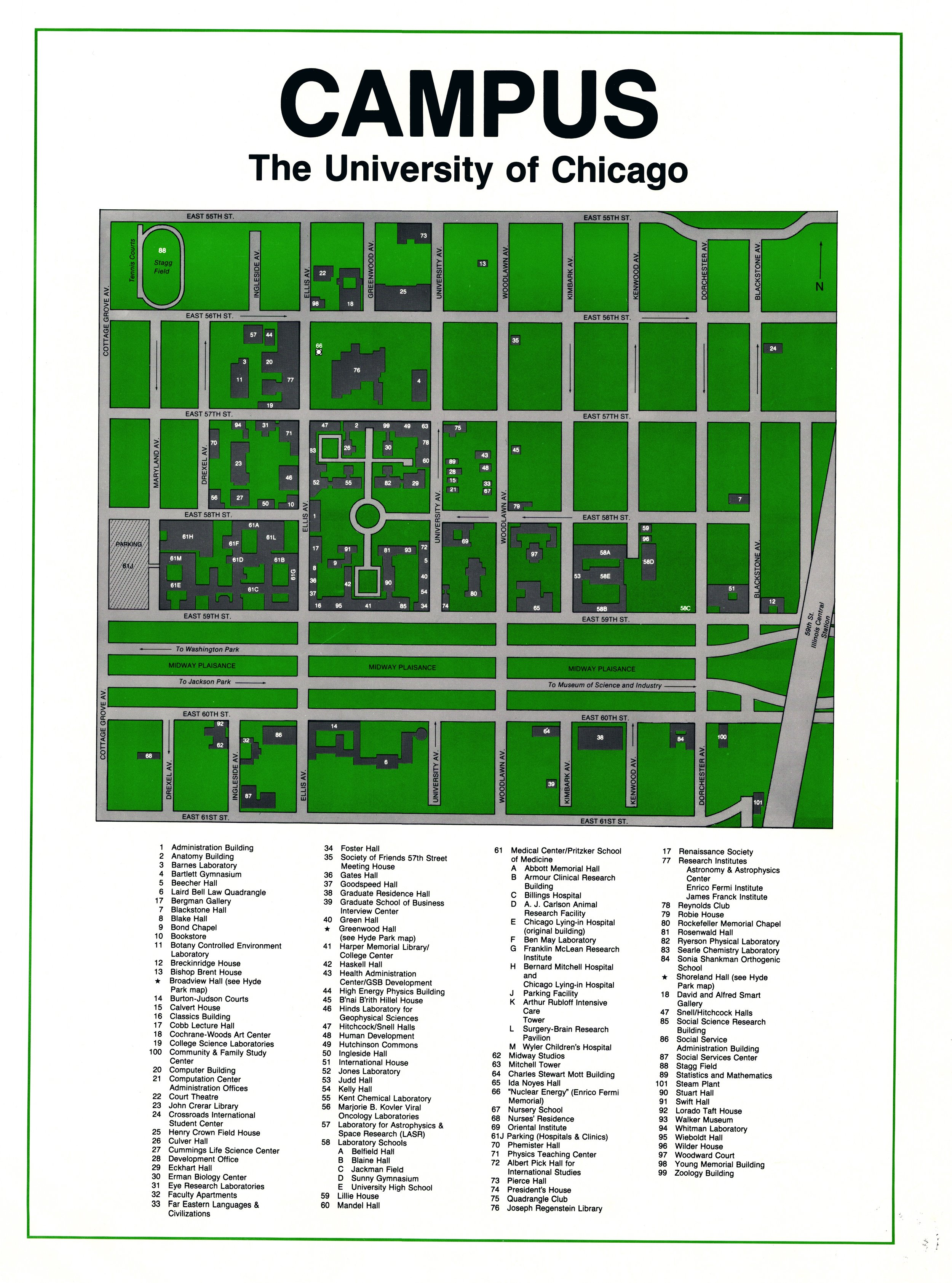 Campus Map, 1983