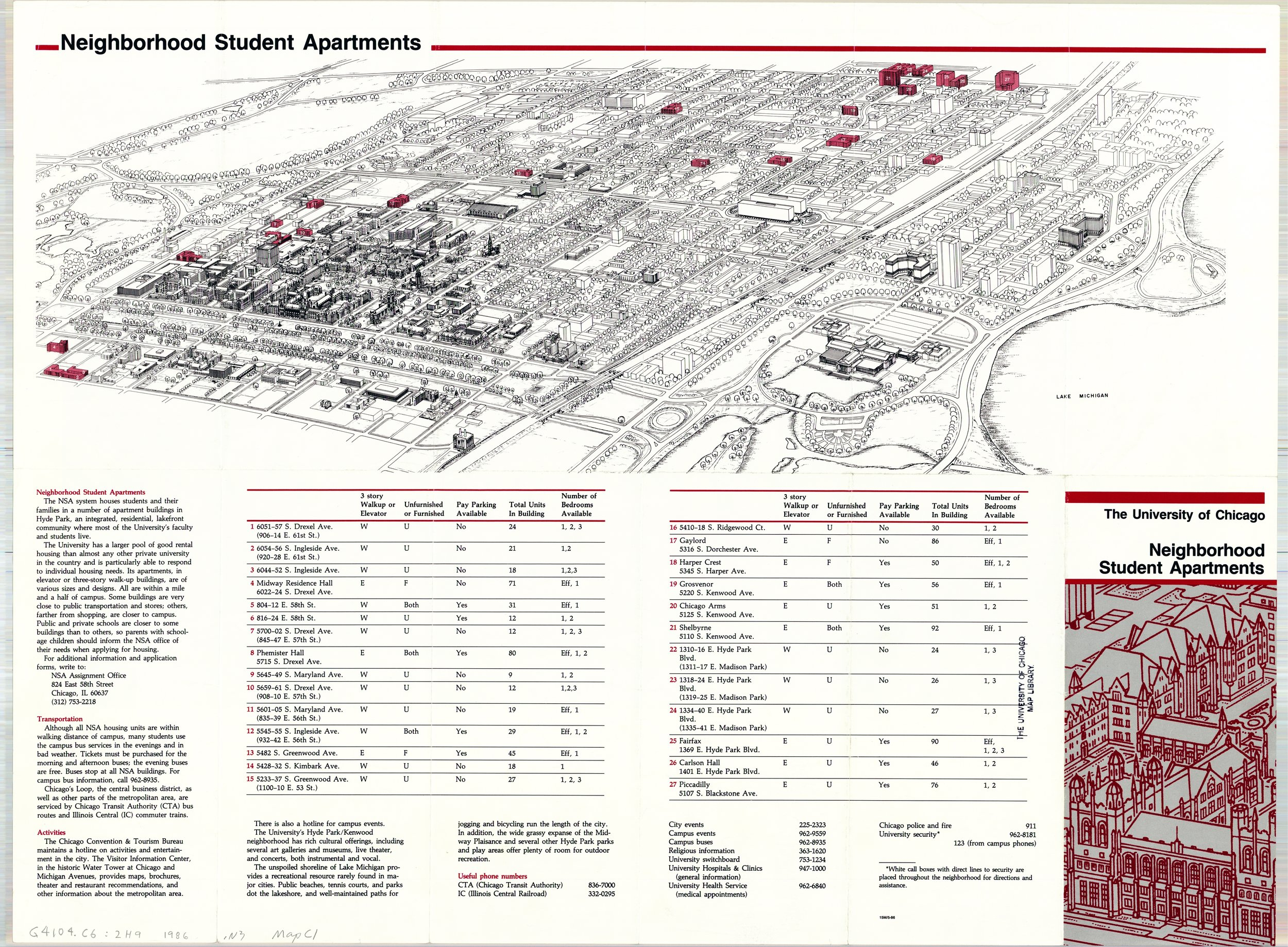 Neighborhood Student Apartments, 1986