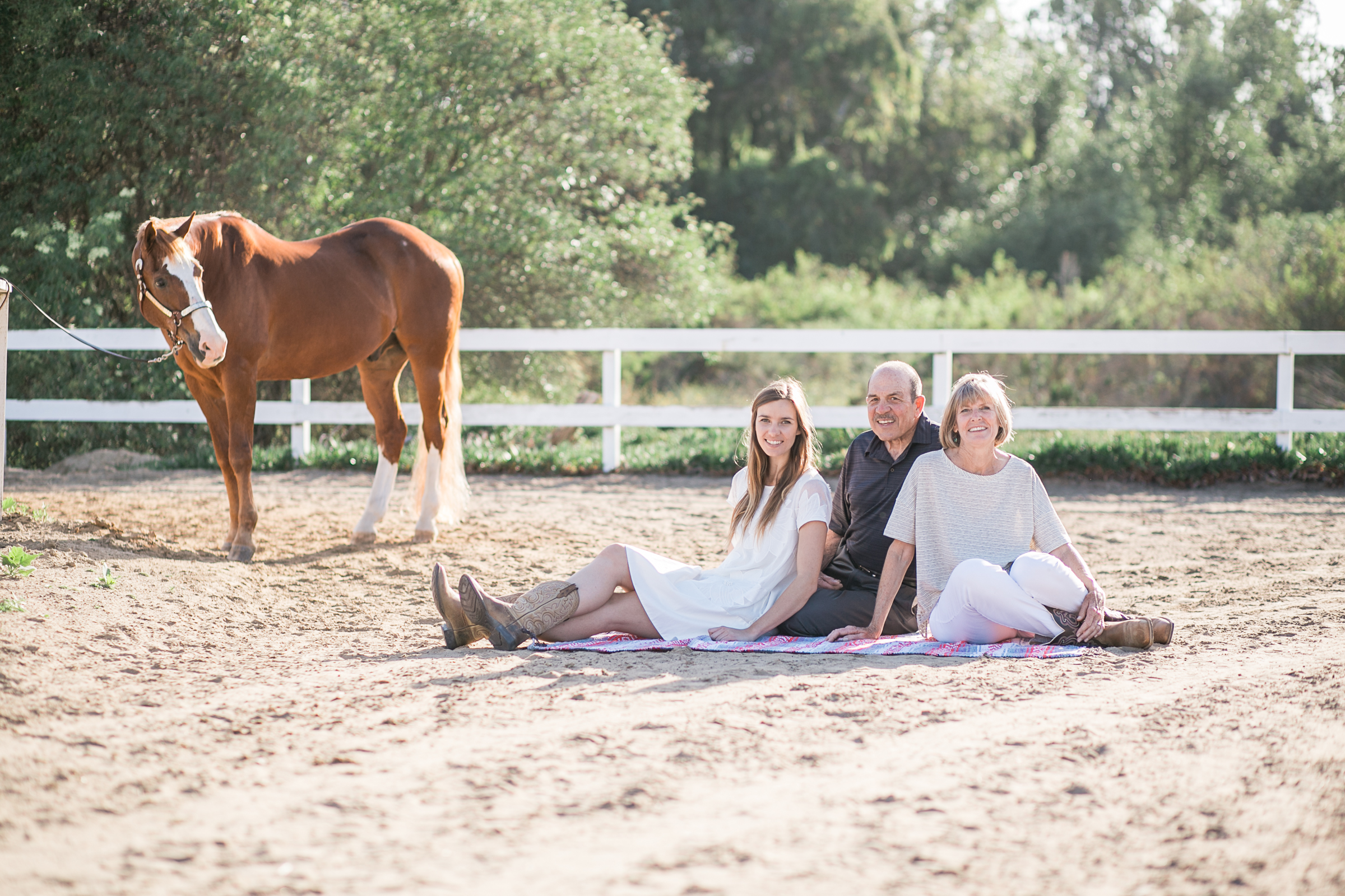 Mendola Family Session at Rancho El Camino Equestrian, Del Mar
