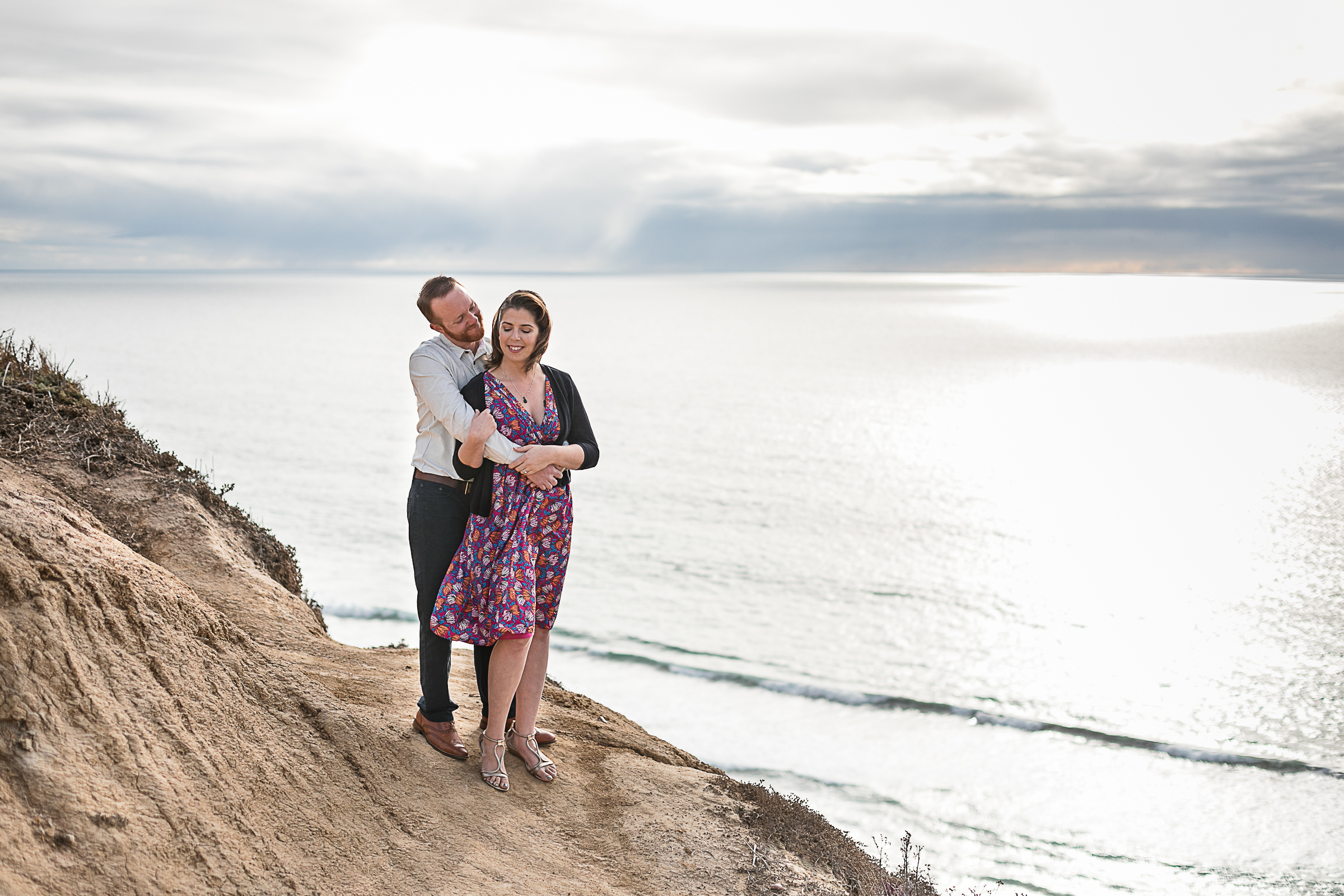 Sarah and Matt's Torrey Pines Gliderport and Scripps Pier Engagement Session 2018-2.jpg