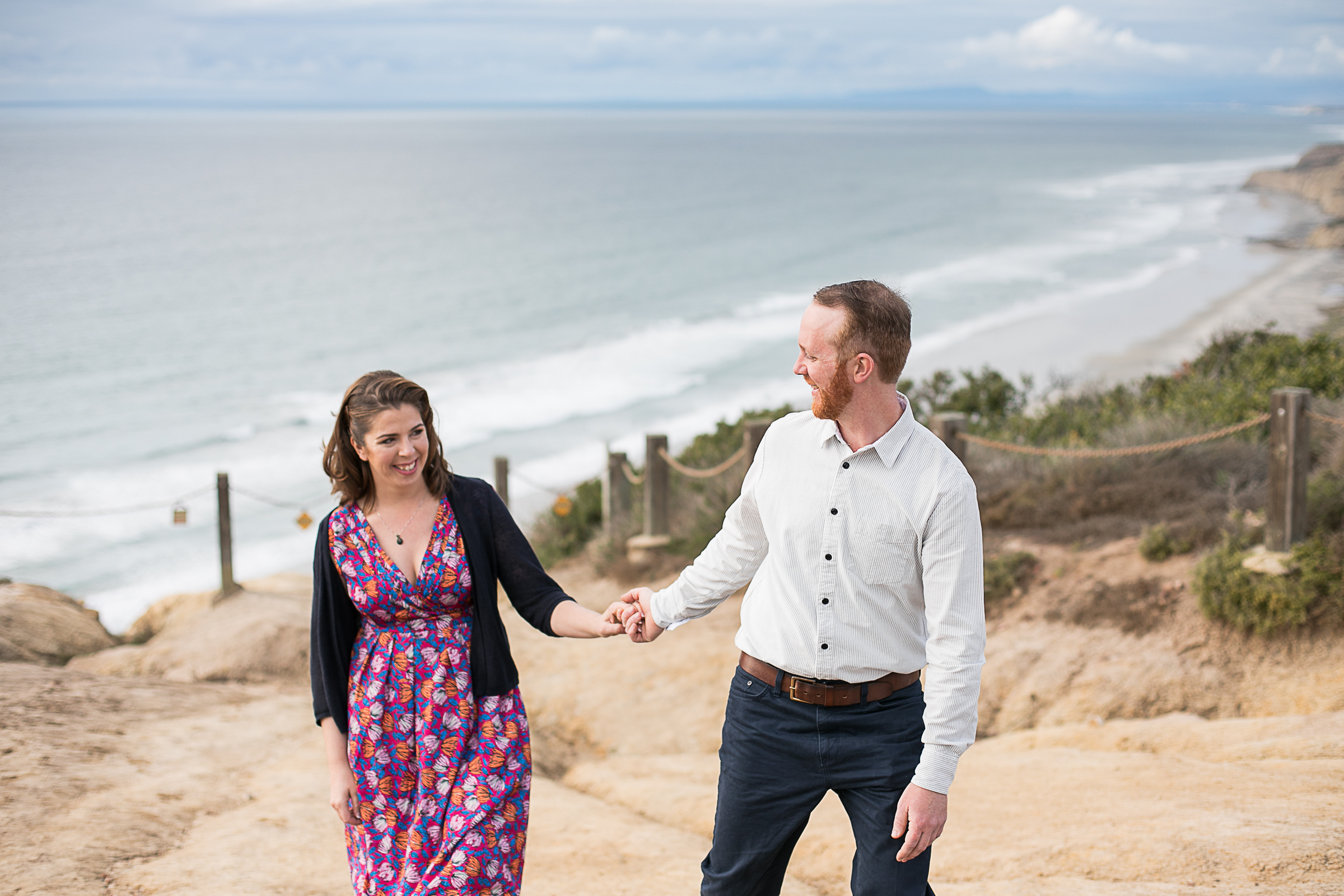 Sarah and Matt's Torrey Pines Gliderport and Scripps Pier Engagement Session 2018-4.jpg