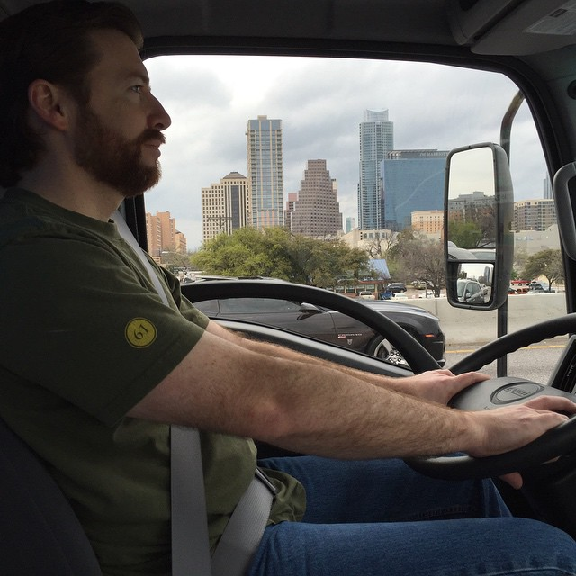 Taking the e-cycling truck through downtown Austin during SXSW.  Lots of new tech announced this year - which means lots of old tech to responsibly recycle with R2sector! Proud to help keep Austin green!