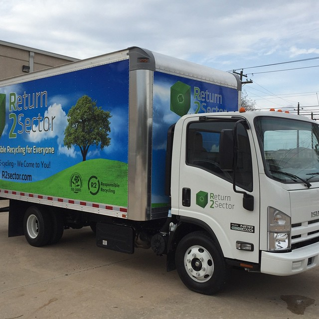 After! The first R2Sector truck - ready for onsite e-cycling in Austin, Texas!