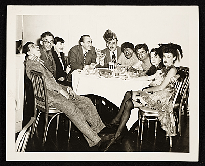 Seymour Lipton, Yasuo Kuniyoshi and others at the Artists Equity Ball, 1950 Dec. / unidentified photographer. Seymour Lipton papers, Archives of American Art, Smithsonian Institution.