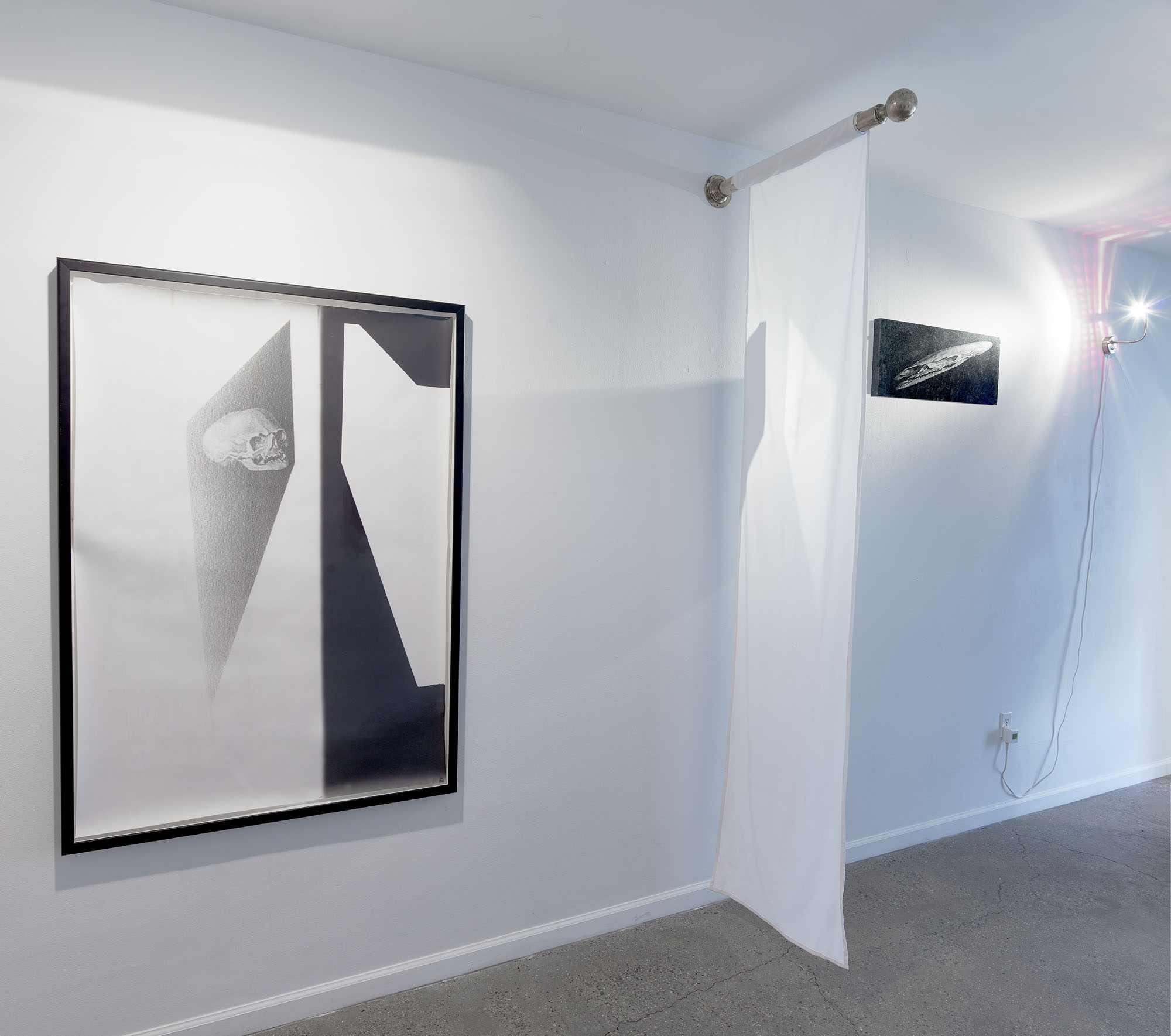 Installation view from Light/Weight with works by Steve Pauley