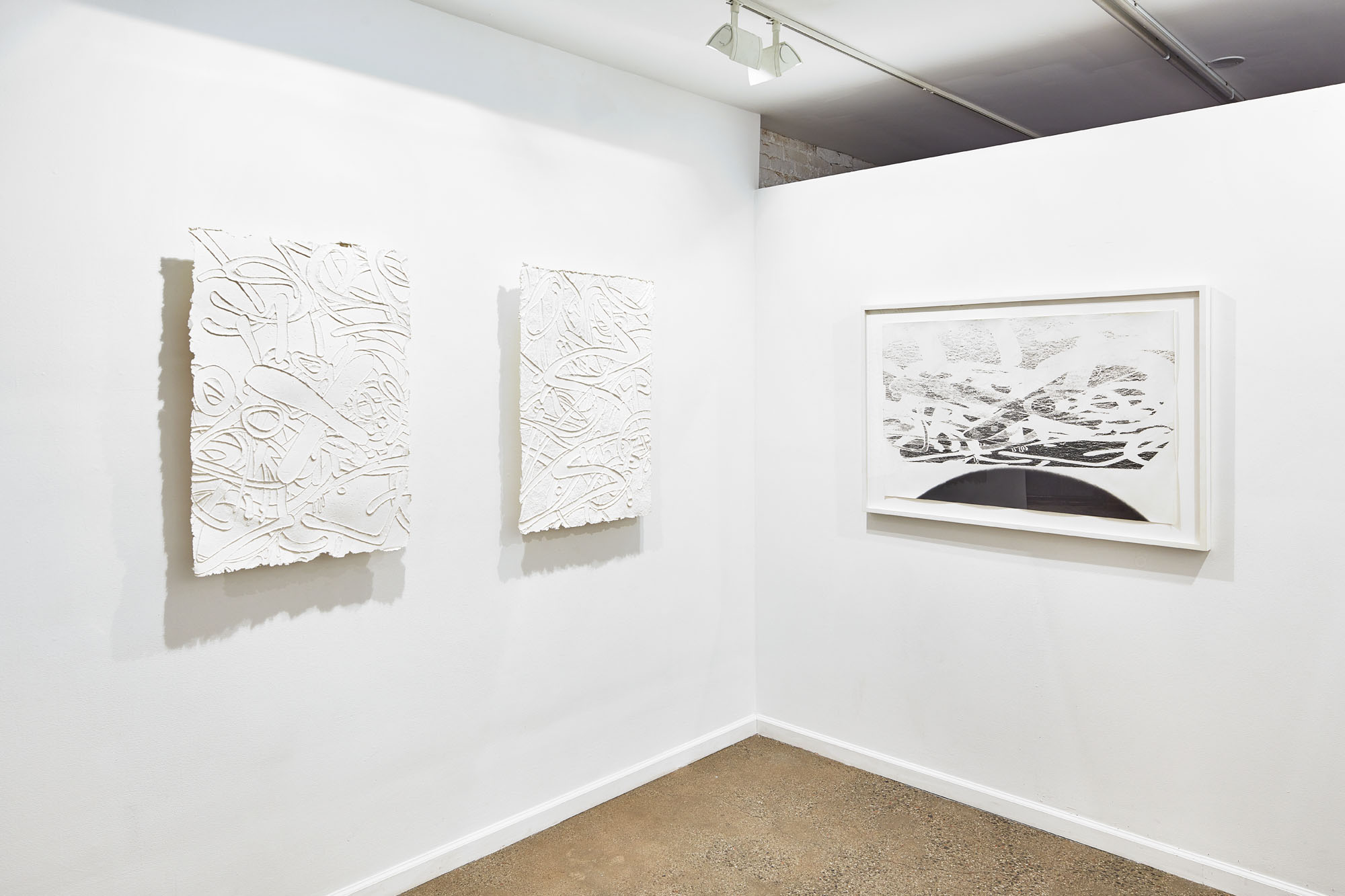 Installation view from Light/Weight with works by Steve Pauley.