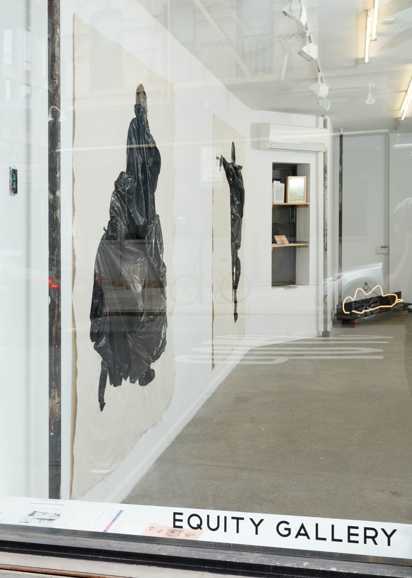 Installation view from Waiting to be Found with works by Fanny Allié