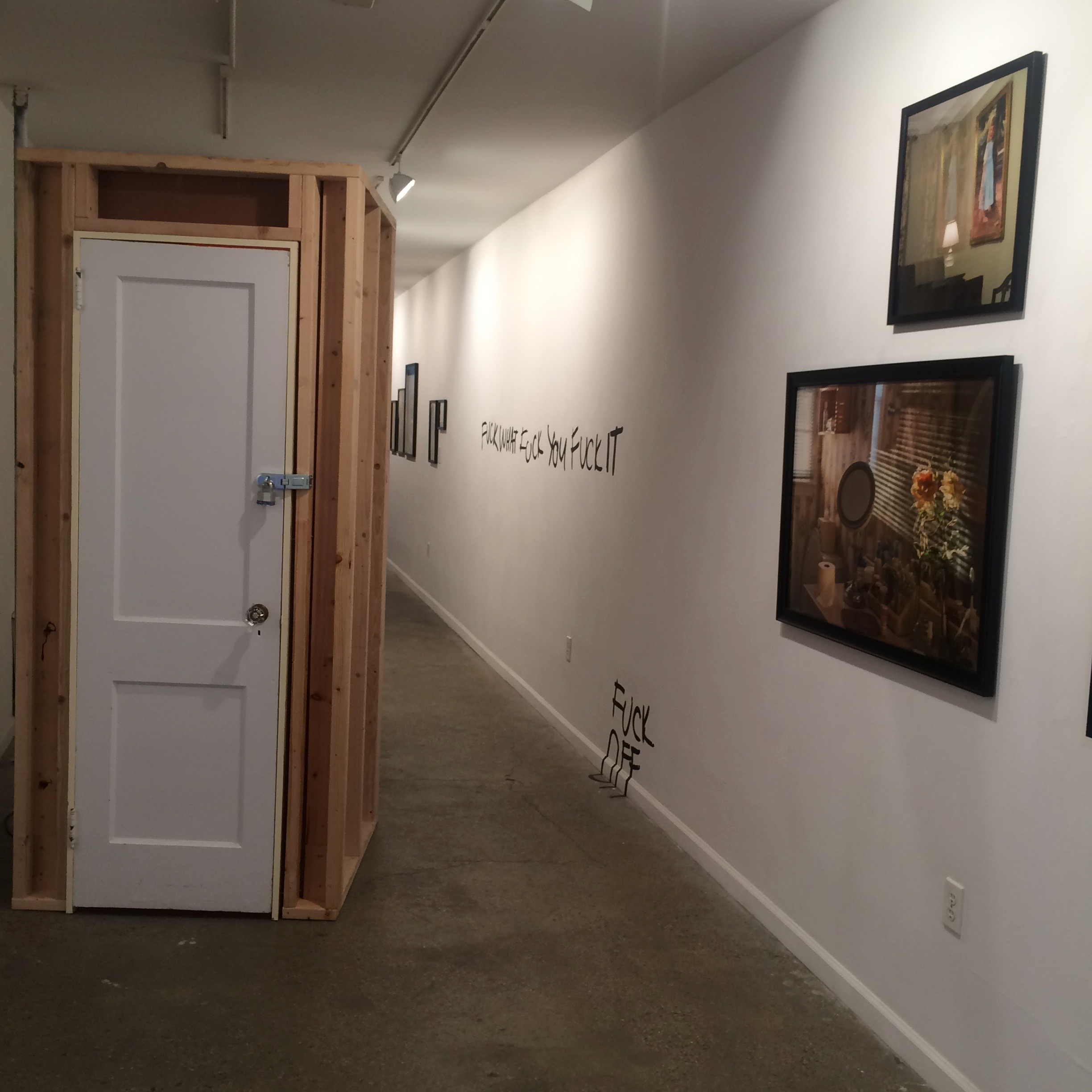 Installation view of 2018 Purchase College MFA Thesis Exhibition: Beyond