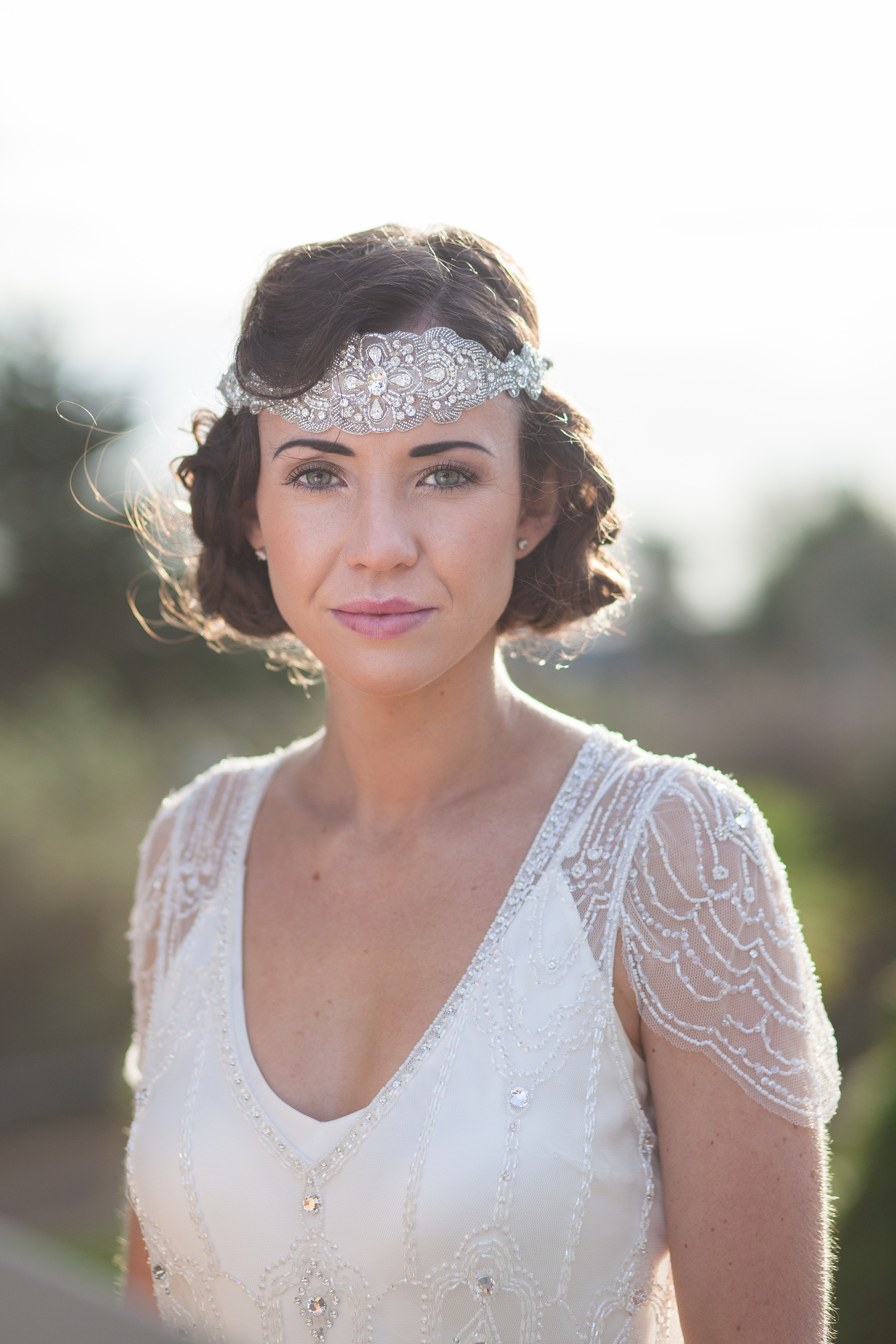 1920's Faux Bob with Finger Waves and Headpiece 2