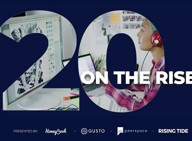 Happy Monday! 🎊Big congratulations to @devfitz17 on her nomination for 20 on the Rise! Well deserved! @honeybook @risingtidesociety @gustohq @peerspace