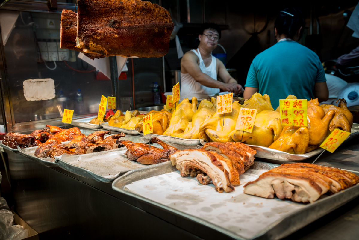 Kowloon street meat vendor