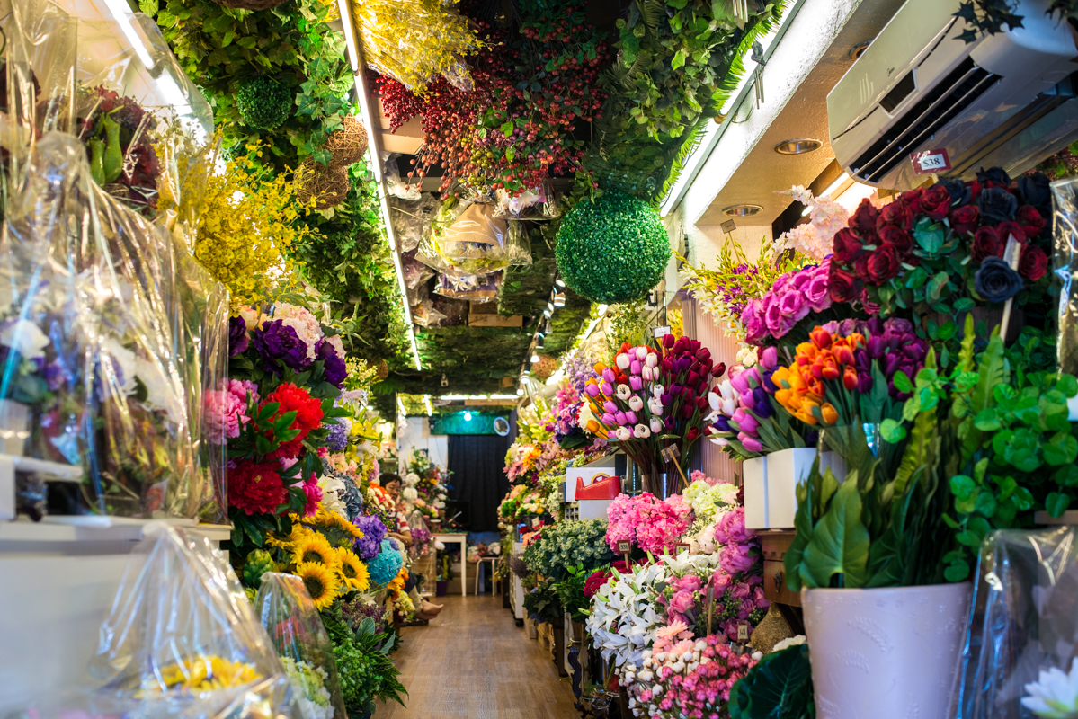 Interior of a shop in the Flower Market