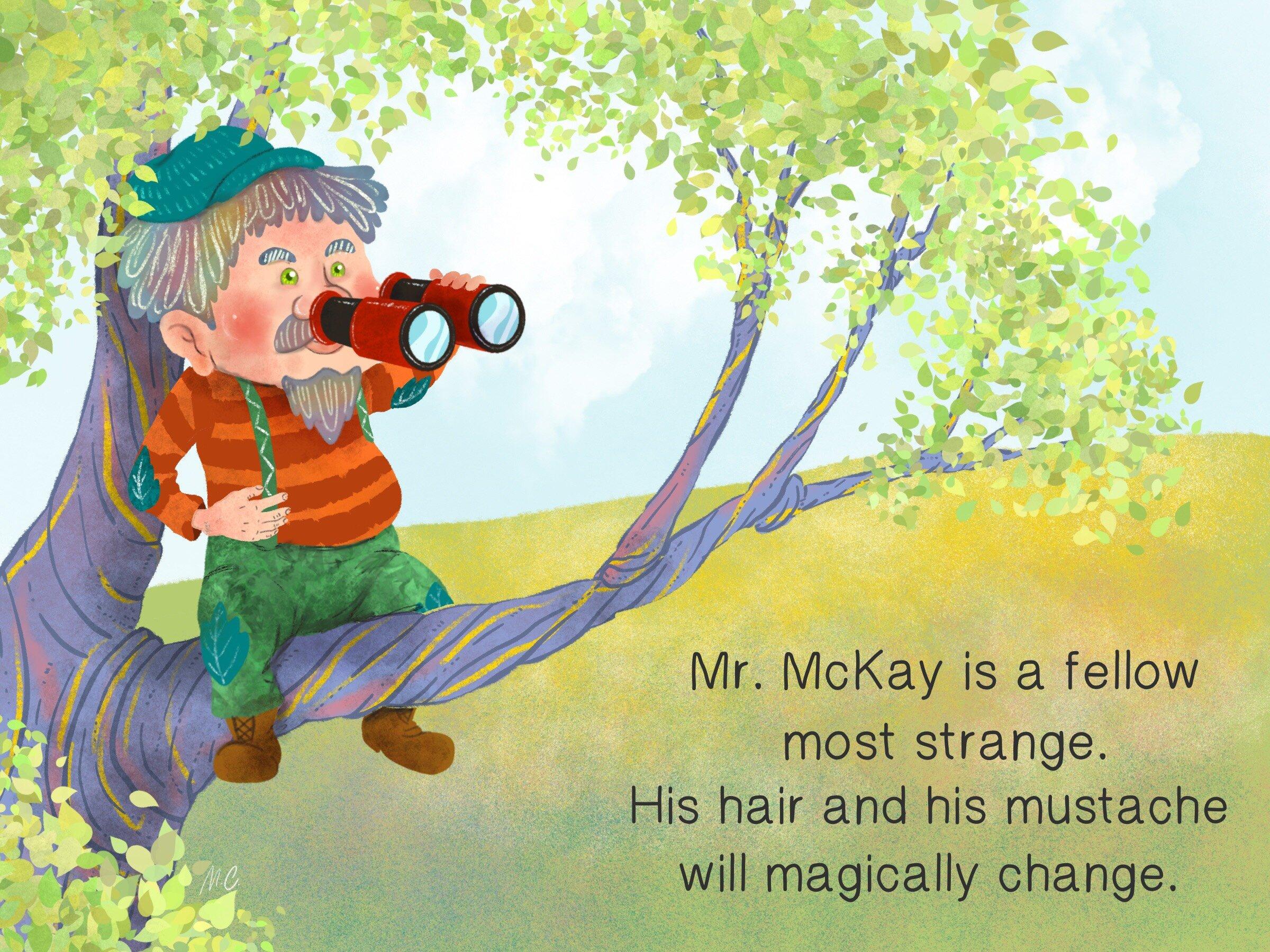 1 Mr.McKay sitting in a tree looking out with binoculars.jpg