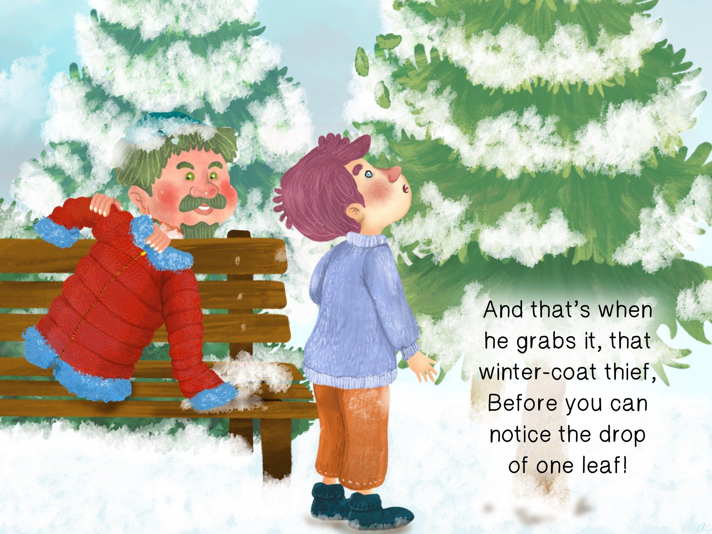 9 Mr. McKay stealing the boy's coat which he took off when he felt like it was warm.JPG