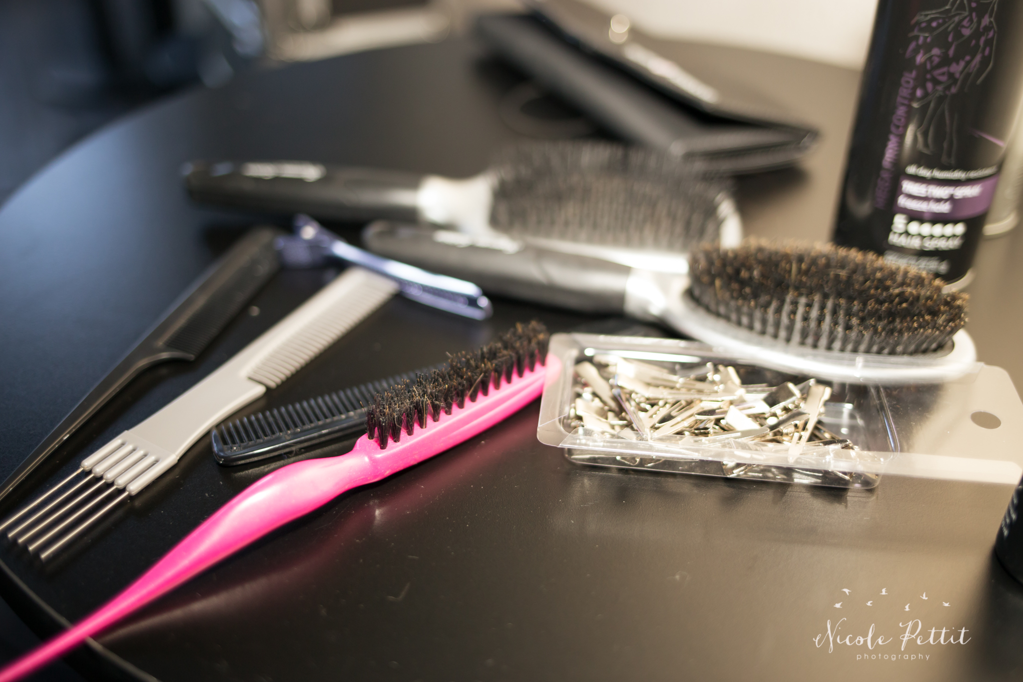 Brush and hair tools in Fusion Nightclub in Fort Collins, Colorado