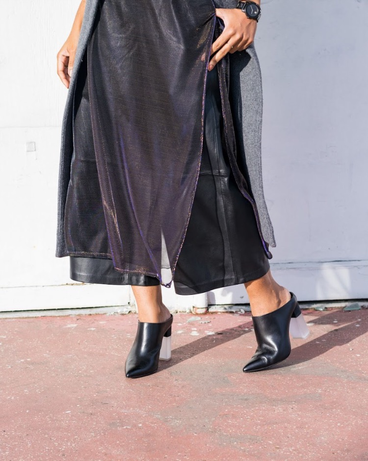 details... - |Iridescent Maxi Slip x Out From Under | Urban Outfitters USA| Leather Culottes x Light Before Dark | Urban Outfitters UK| Maxi Menswear Vest x FreePeople| Capri Leather Mules x Pour La Victoire
