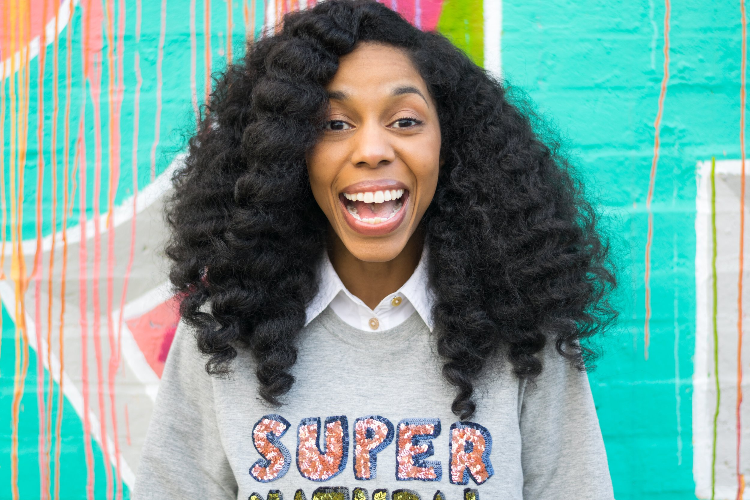 | super-  combining form prefix : to a great or extreme degree. extra large of its kind.  | natural (hair)- hair whose texture hasn't been altered by chemical straighteners, including relaxers and texturizers.