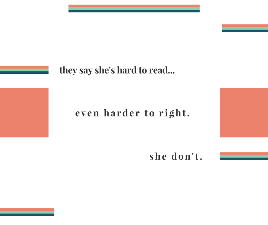 """she don't."" 