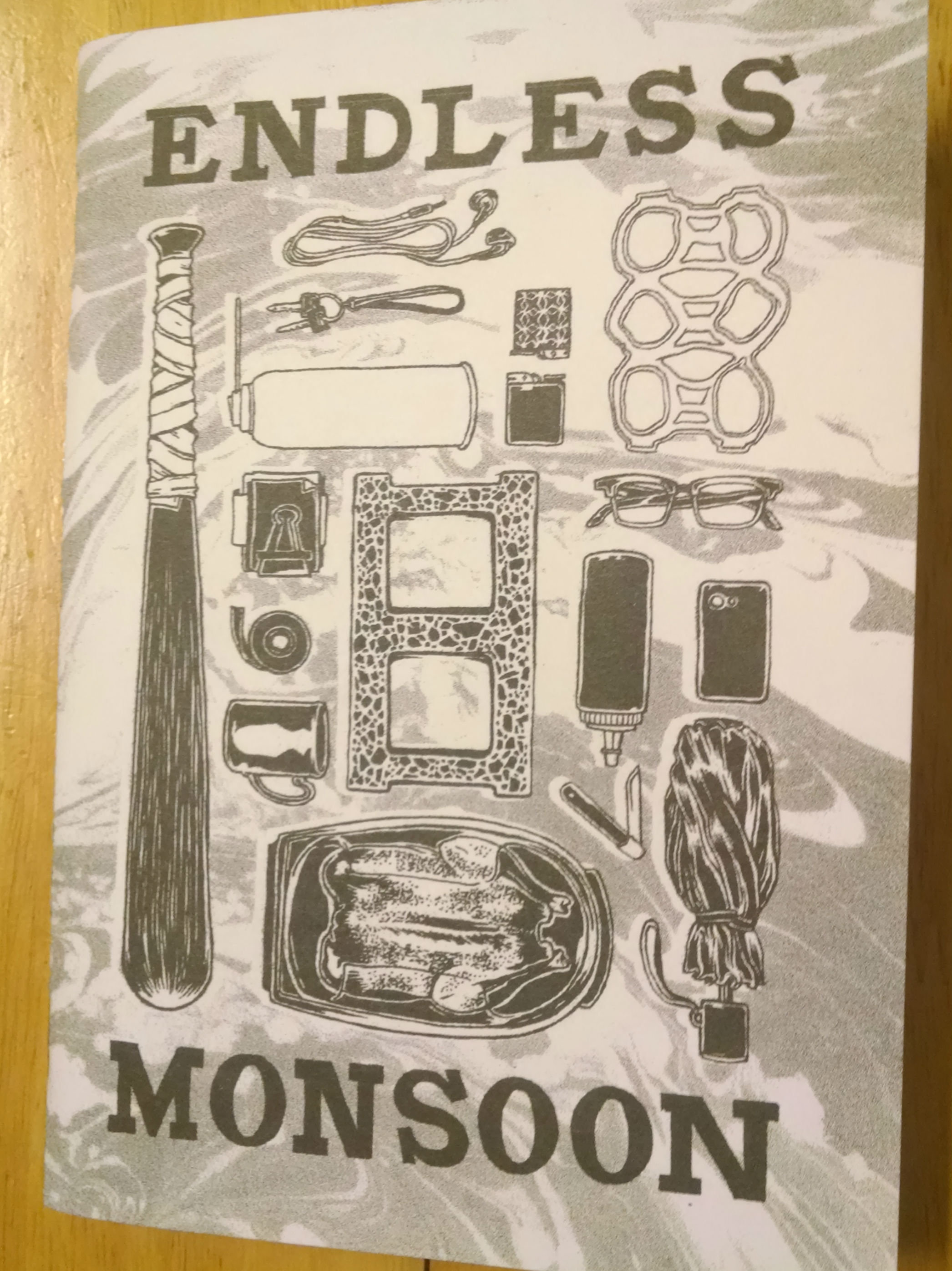 Endless Monsoon, a risograph comic by  Sarah Welch  from Houston, TX. She was on my row and, again, I was immediately drawn to it and wanted to buy every issue.