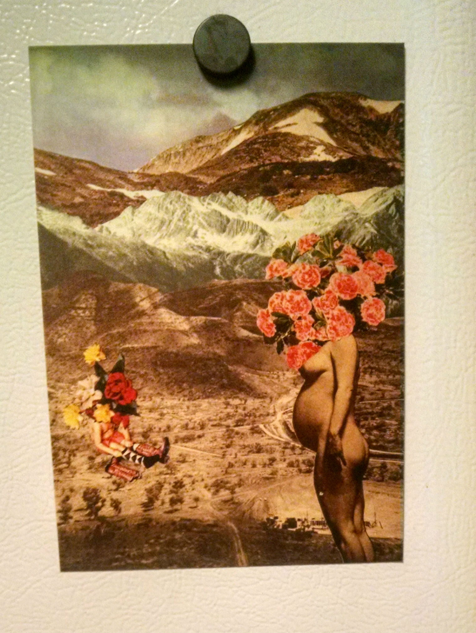 One of the collage post cards I got from  Marlo Barerra .