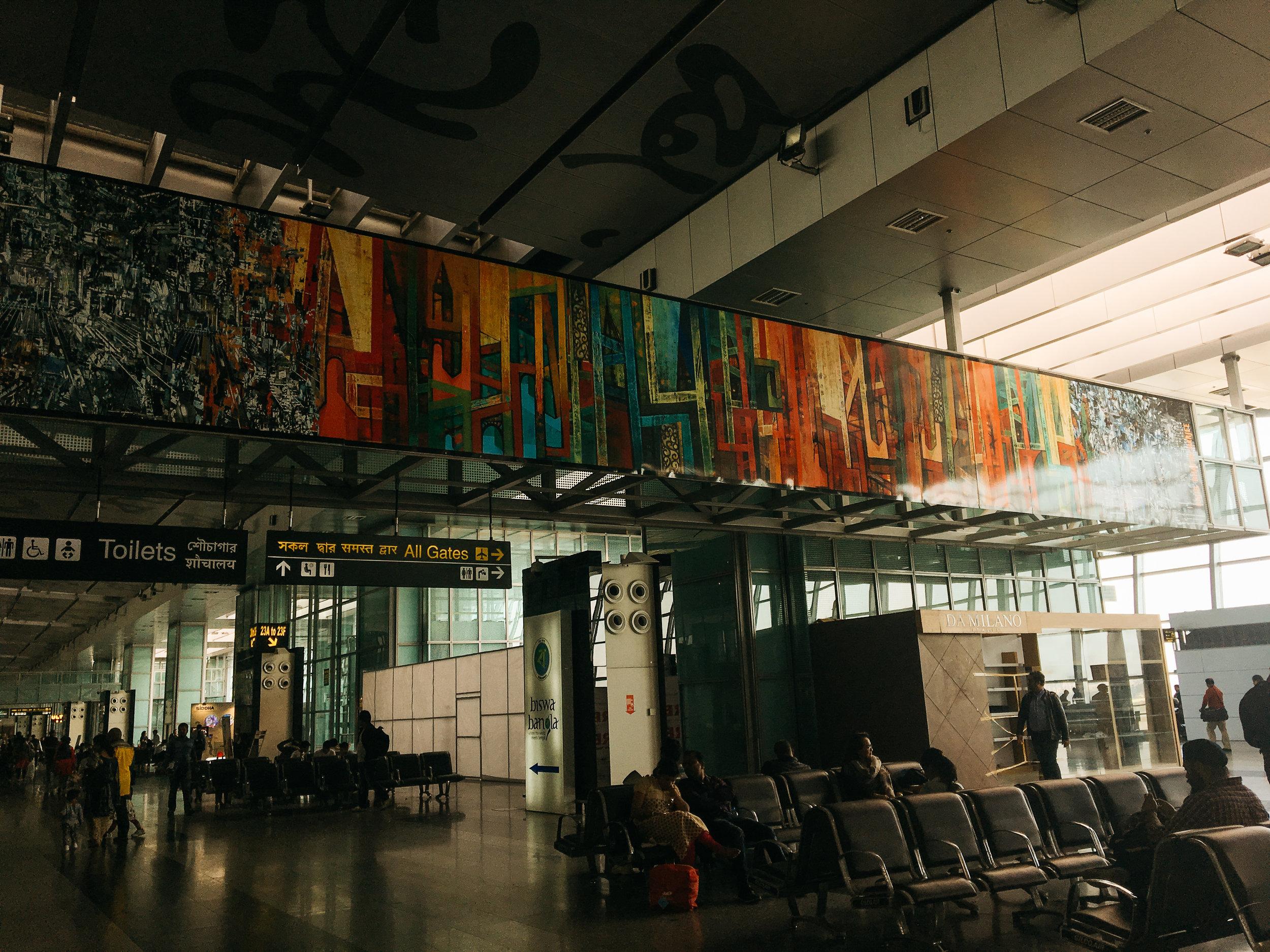 Love this mosaic at the Kolkata airport!