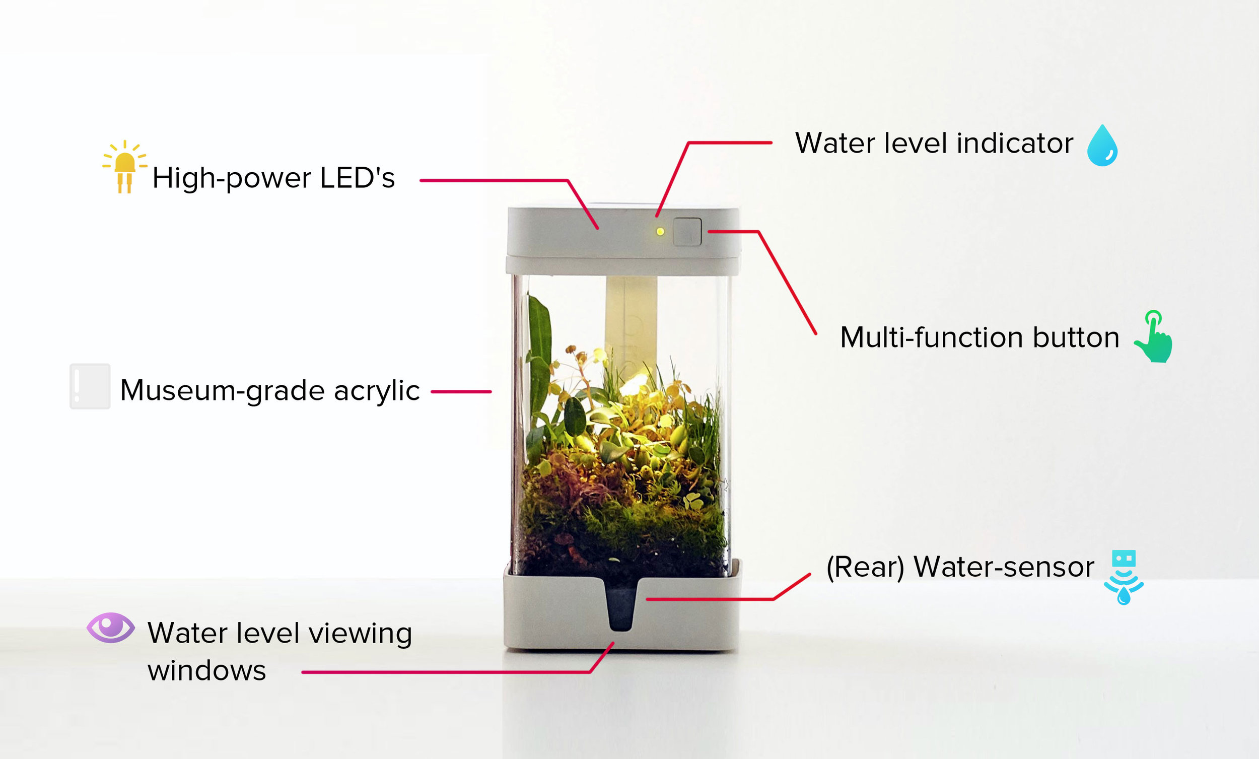 The elements of a self-contained ecosystem