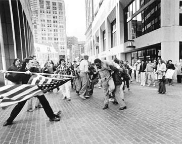 Boston BusingRiots, 1974. Image courtesy of National Geographic