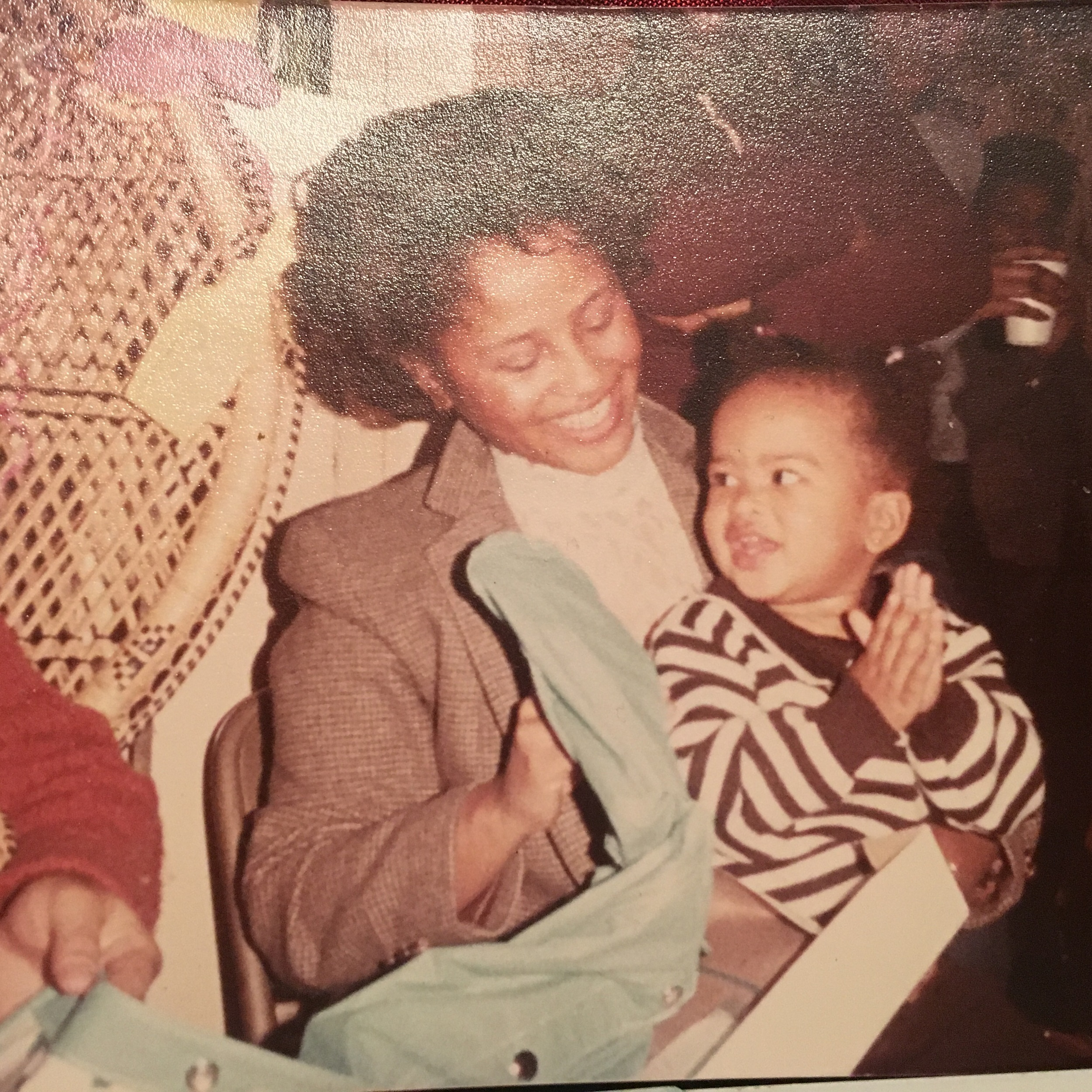 At a baby shower for my cousin during a visit to my mom's hometown of Philly. It was the only time I met my grandmother before she passed.