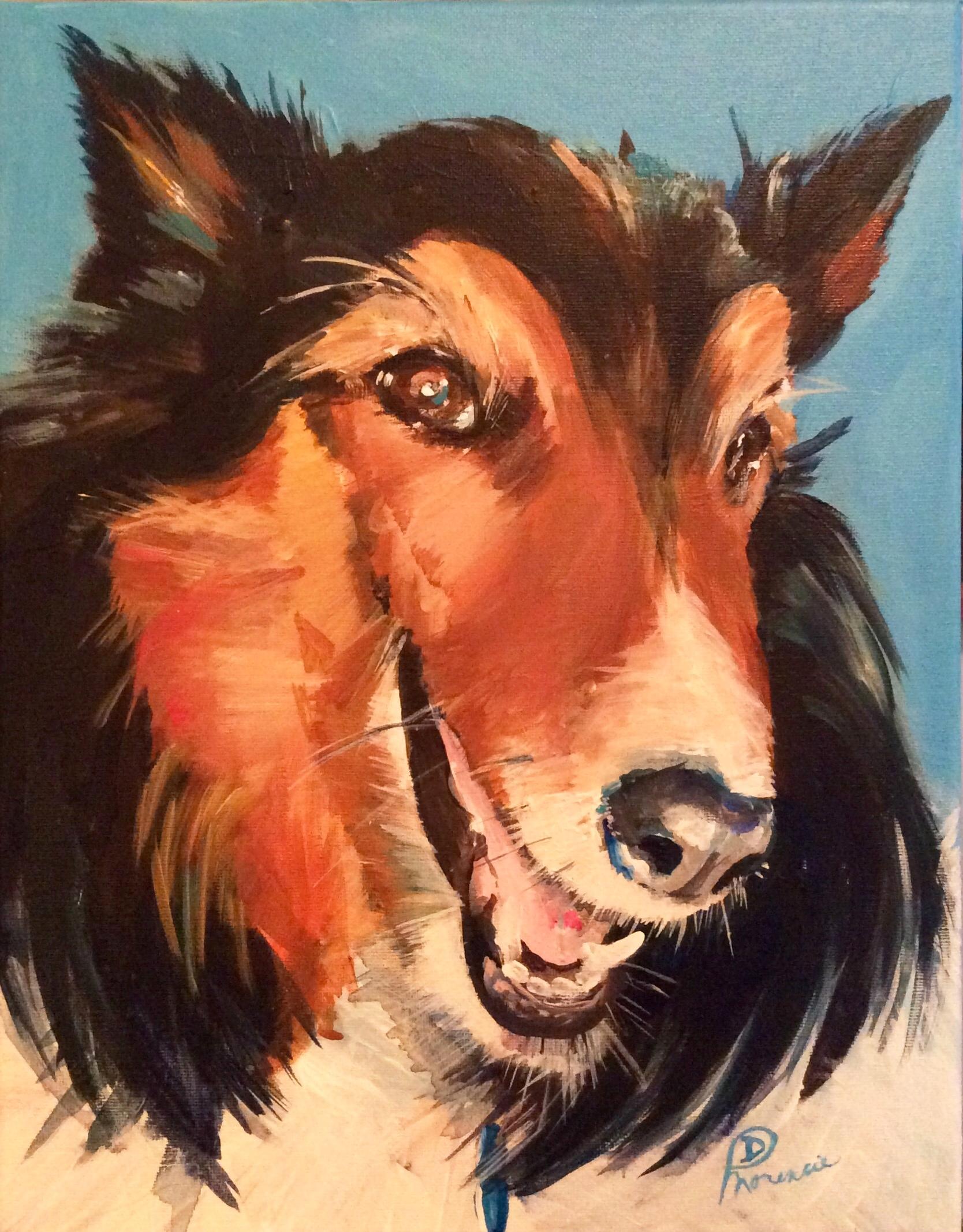 "11x14"" acrylic on canvas 2017, owner Louisiana"