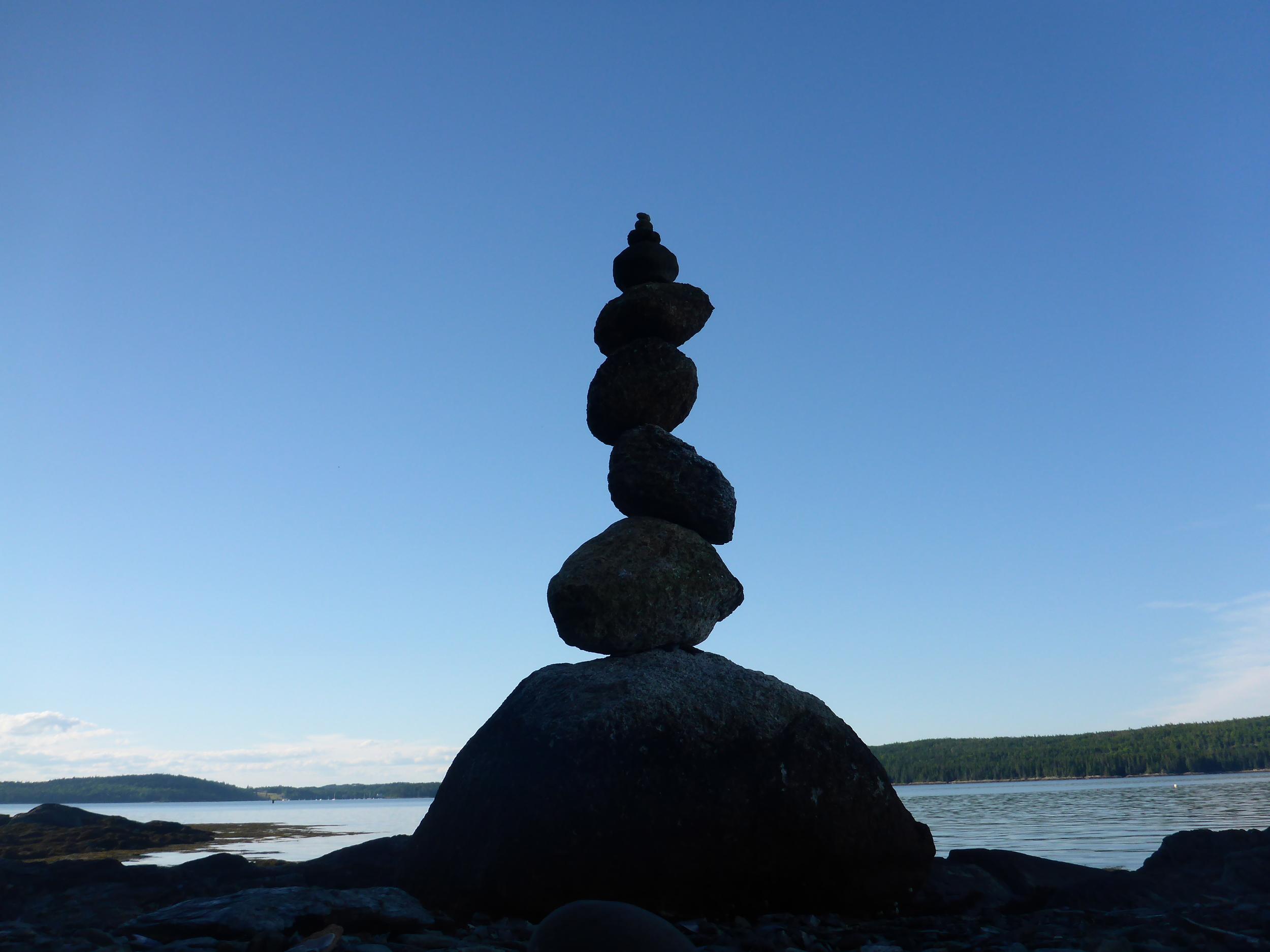 -Rock Cairn,Litte Deer Isle