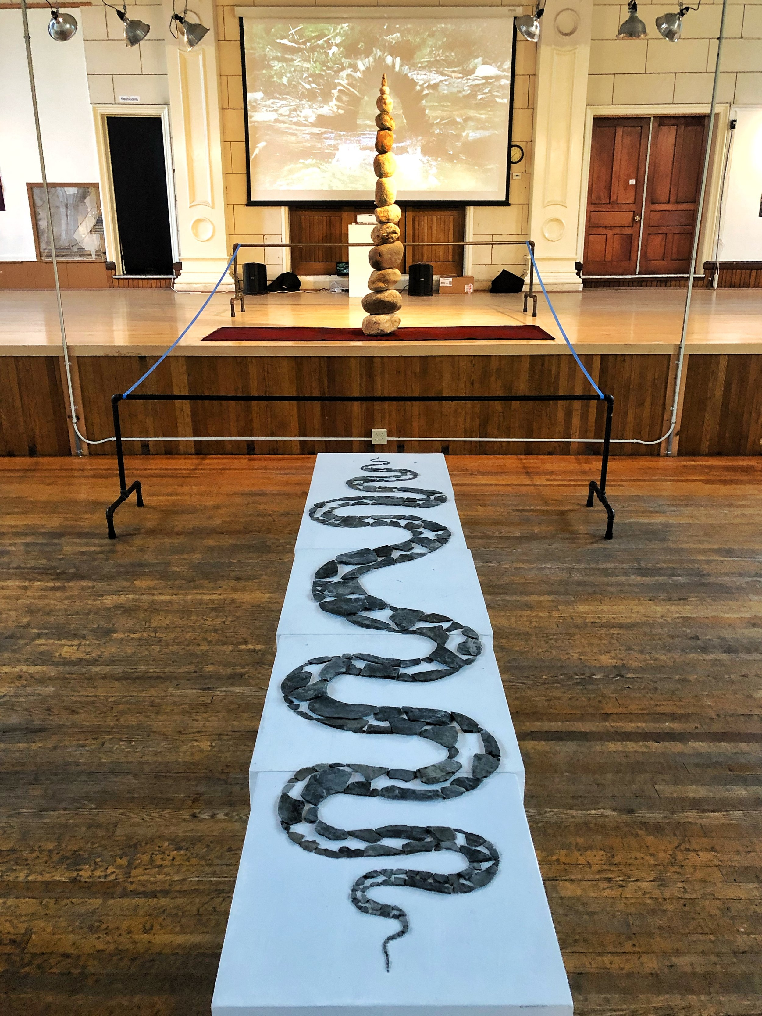Solo Exhibition - Trumansburg Conservatory ofFine Arts - On Display: 29 prints, 1 video installation, 2 copies of Land Art book, 2 site specific indoor installations, 1 site specific outdoor installation* Currently on display through August 20th, 2019 *