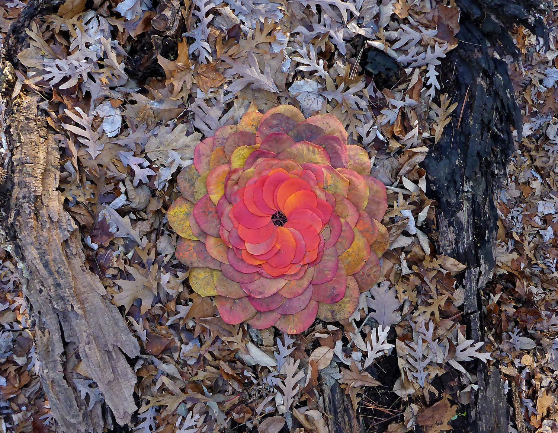 Old Leaf Mandala - $120 Unframed