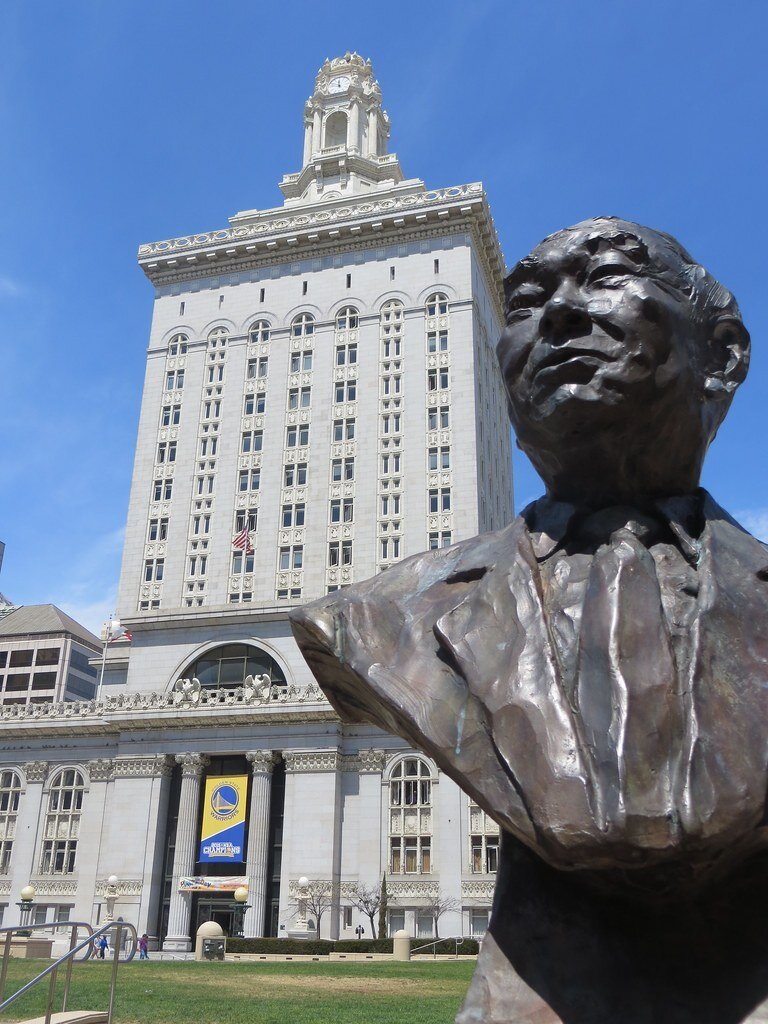 Ogawa Plaza bust and City Hall.jpg