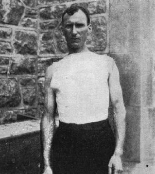 Thomas Hicks, the winner of the 1904 Olympic Marathon