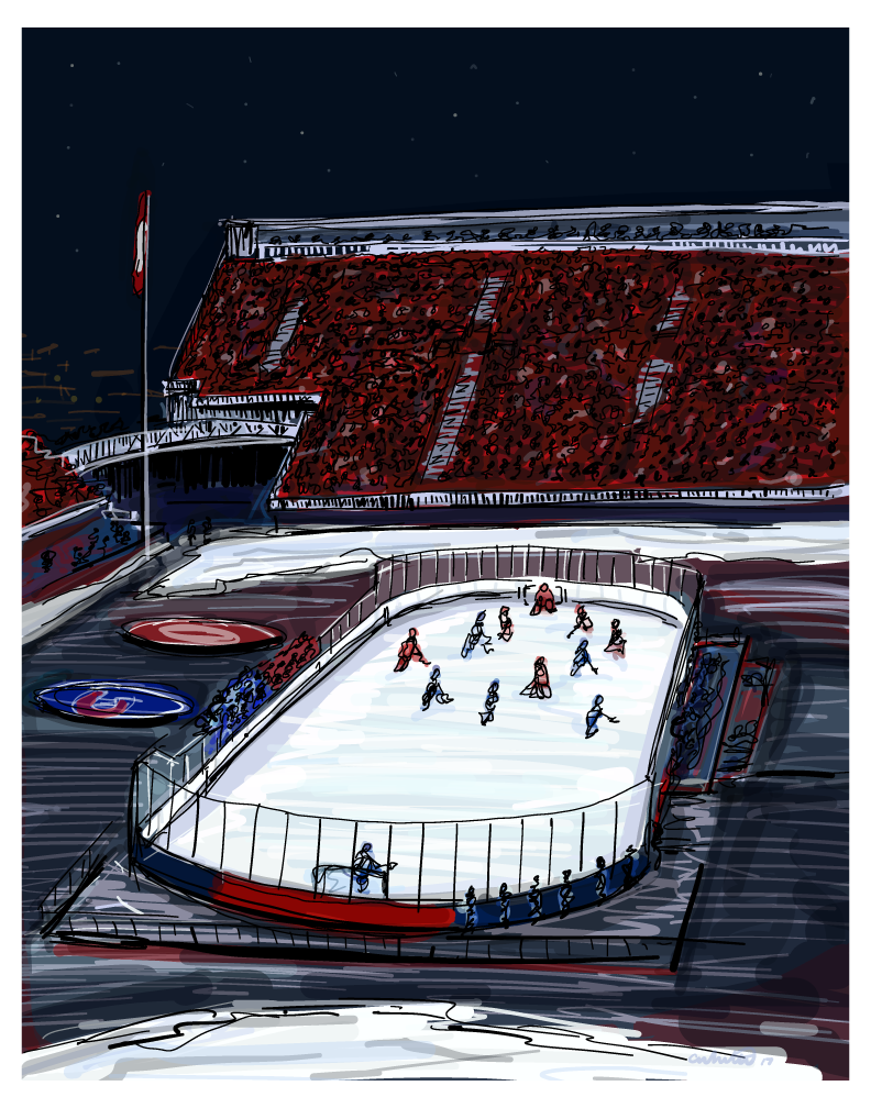 Sketch of the NHL Winter Classic 2017